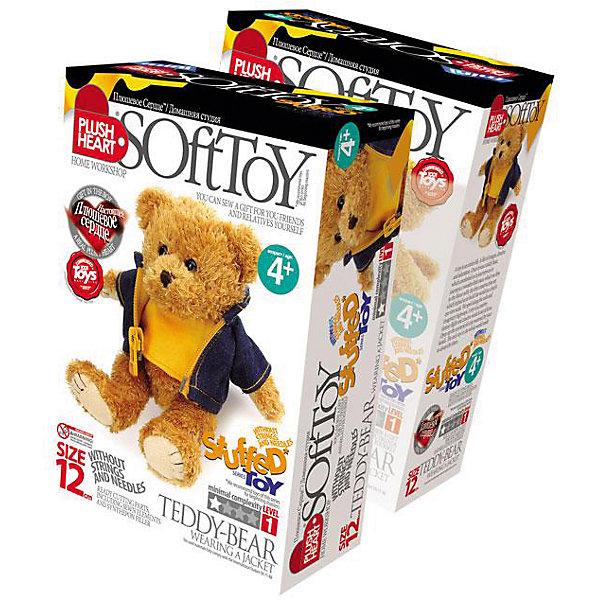 Набор Мишка в курточке, Plush HeartШитьё<br>Набор Мишка в курточке, Plush Heart предназначен для шитья плюшевого медвежонка без иголки и ниток! Забавный медвежонок, а также его курточка уже сшиты. Осталось только набить игрушку синтепоном и шариками, вставить плюшевое сердечко и заклеить шов специальной лентой. Увлекательный процесс изготовления куклы поможет вашему ребенку развить трудолюбие, аккуратность, художественный вкус, воображение, усидчивость и мелкую моторику. Уровень сложности 1 из 4.<br><br>Комплектация: готовые детали для сшивания, синтепон для набивки, мешочек с полимерными гранулами, плюшевое сердце<br><br>Дополнительная информация:<br>-Вес в упаковке: 210 г <br>-Размеры в упаковке: 225х150х70 мм<br>-Материалы: синтепон, полимерные гранулы, плюш, текстиль<br>-Размер готовой игрушки: 120 мм<br><br>Сшитая своими руками игрушка станет для вашего ребенка верным другом дома, во время учебы и в путешествиях!<br><br>Набор Мишка в курточке, Plush Heart (Плюшевое сердце) можно купить в нашем магазине.<br><br>Ширина мм: 225<br>Глубина мм: 150<br>Высота мм: 70<br>Вес г: 210<br>Возраст от месяцев: 84<br>Возраст до месяцев: 144<br>Пол: Женский<br>Возраст: Детский<br>SKU: 4051637