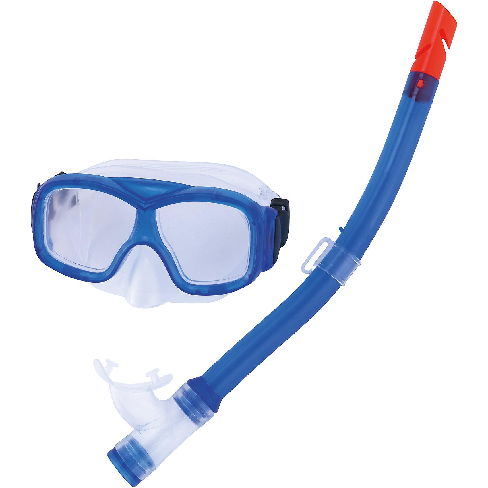 Набор для ныряния (маска+трубка) Explorer подростковый,  BestwayОчки, маски, ласты, шапочки<br>Набор для ныряния Explorer, Bestway - отличный вариант для активного отдыха и увлекательных исследований подводного мира. В комплект входят маска для ныряния и трубка. Маска оснащена линзами из поликарбоната с широким обзором без искажений, плотно прилегает к лицу и надёжно фиксируется регулируемым силиконовым ремешком. Пластиковая трубка с эластичным мягким загубником, положение которого можно регулировать, позволяет оставаться под водой на протяжении длительного времени. <br><br>Дополнительная информация:<br><br>- Материал: поликарбонат.<br>- Размер упаковки: 48 х 18,5 х 8 см.<br>- Вес: 0,308 кг.<br><br>Набор для ныряния (маска+трубка) Explorer подростковый, Bestway (Бествей) можно купить в нашем интернет-магазине.<br><br>Ширина мм: 480<br>Глубина мм: 185<br>Высота мм: 80<br>Вес г: 308<br>Возраст от месяцев: 84<br>Возраст до месяцев: 168<br>Пол: Унисекс<br>Возраст: Детский<br>SKU: 4051645