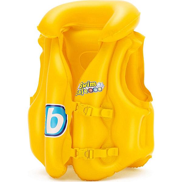 Жилет надувной Swim Safe, ступень B,  BestwayКруги и нарукавники<br>Характеристики товара:<br><br>• материал: винил<br>• цвет: желтый<br>• размер: 51х46 см<br>• легкий материал<br>• в комплекте заплатка для ремонта<br>• надувной воротник<br>• яркий цвет<br>• предохранительные клапаны<br>• 3 воздушные камеры<br>• 2 быстрорастегиваемых регулируемых пряжки<br>• хорошо заметен на воде<br>• возраст: от 3 до 6 лет<br>• страна бренда: США, Китай<br>• страна производства: Китай<br><br>Это отличный способ научить малышей плавать и обеспечить детям веселое времяпровождение! Жилет поможет ребенку больше двигаться в воде и поддерживать хорошую физическую форму.<br><br>Предмет сделан из прочного материала, но очень легкого - отлично держится на воде. Жилет легкий, его удобно брать с собой. Изделия произведены из качественных и безопасных для детей материалов.<br><br>Жилет надувной Swim Safe, ступень B, от бренда Bestway (Бествей) можно купить в нашем интернет-магазине.<br>Ширина мм: 140; Глубина мм: 30; Высота мм: 215; Вес г: 276; Возраст от месяцев: 36; Возраст до месяцев: 72; Пол: Унисекс; Возраст: Детский; SKU: 4051654;