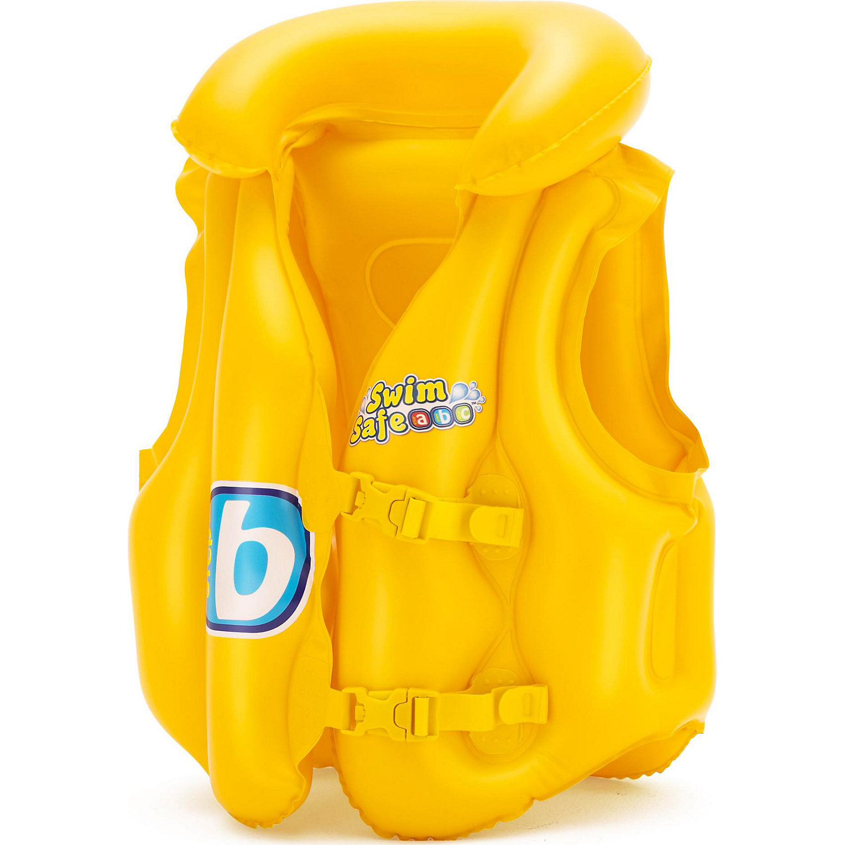 Жилет надувной Swim Safe, ступень B,  BestwayКруги и нарукавники<br>Характеристики товара:<br><br>• материал: винил<br>• цвет: желтый<br>• размер: 51х46 см<br>• легкий материал<br>• в комплекте заплатка для ремонта<br>• надувной воротник<br>• яркий цвет<br>• предохранительные клапаны<br>• 3 воздушные камеры<br>• 2 быстрорастегиваемых регулируемых пряжки<br>• хорошо заметен на воде<br>• возраст: от 3 до 6 лет<br>• страна бренда: США, Китай<br>• страна производства: Китай<br><br>Это отличный способ научить малышей плавать и обеспечить детям веселое времяпровождение! Жилет поможет ребенку больше двигаться в воде и поддерживать хорошую физическую форму.<br><br>Предмет сделан из прочного материала, но очень легкого - отлично держится на воде. Жилет легкий, его удобно брать с собой. Изделия произведены из качественных и безопасных для детей материалов.<br><br>Жилет надувной Swim Safe, ступень B, от бренда Bestway (Бествей) можно купить в нашем интернет-магазине.<br><br>Ширина мм: 140<br>Глубина мм: 30<br>Высота мм: 215<br>Вес г: 276<br>Возраст от месяцев: 36<br>Возраст до месяцев: 72<br>Пол: Унисекс<br>Возраст: Детский<br>SKU: 4051654