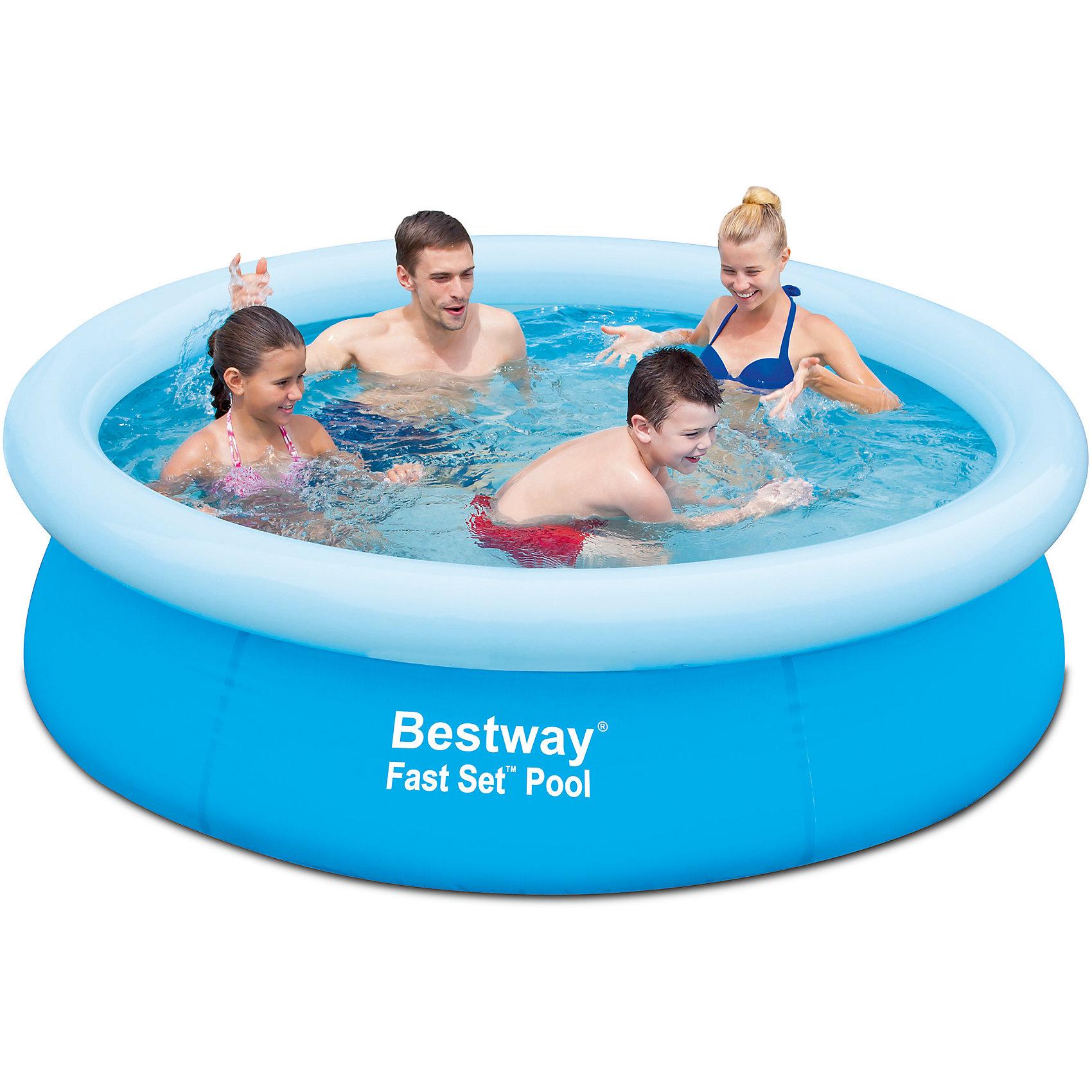 Bestway Бассейн с надувным бортом,  Bestway бассейн bestway 457х107см бв57127