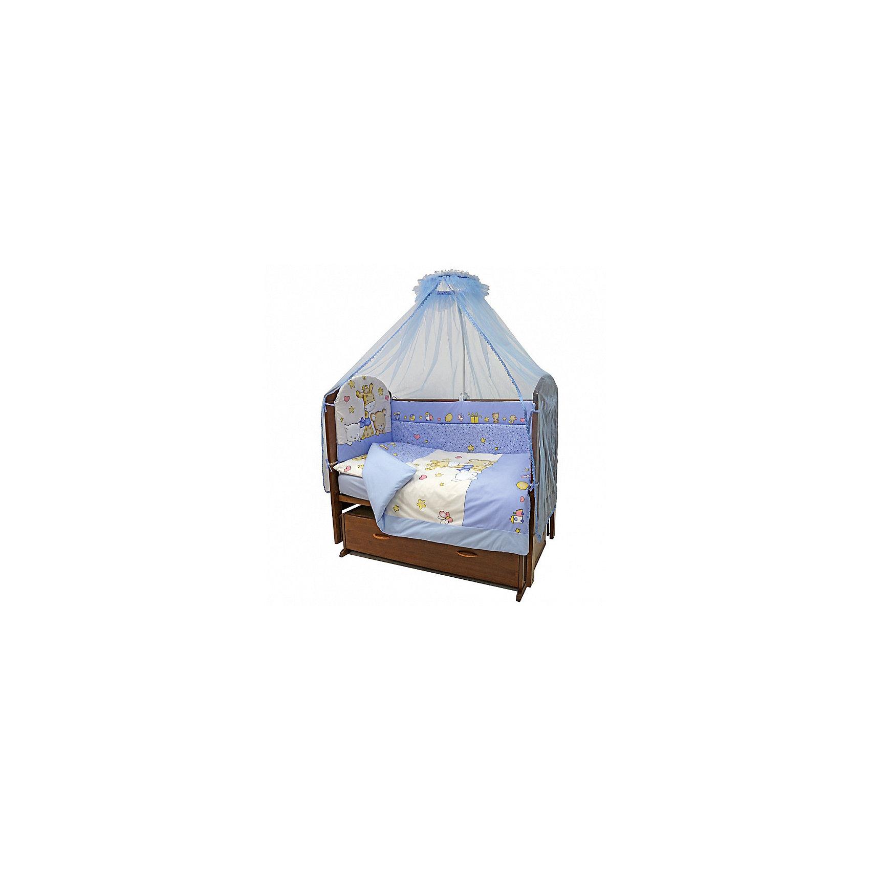 Постельное белье Детский Мир, 3 пр., голубойЭтот чудесный комплект в кроватку обеспечит комфорт и уют малышу. Простыня удобного размера  хорошо заправляется, подходит для стандартных матрасов. Милая расцветка прекрасно впишется в интерьер детской комнаты. Комплект изготовлен из натурального хлопка, приятного к телу, хорошо пропускает воздух, не выцветает, не линяет во время стирки.<br><br>Дополнительная информация:<br><br>- Комплектация: наволочка, простыня на резинке, пододеяльник.<br>- Материал: 100% хлопок.<br>- Размер: наволочка 40х60 см, пододеяльник 147х112 см., простыня 120х60 см.<br>- Цвет: голубой. <br>- Декоративные элементы: принт.<br><br>Постельное белье Детский Мир, 3 пр., голубое, можно купить в нашем магазине.<br><br>Ширина мм: 250<br>Глубина мм: 200<br>Высота мм: 50<br>Вес г: 500<br>Возраст от месяцев: 0<br>Возраст до месяцев: 36<br>Пол: Мужской<br>Возраст: Детский<br>SKU: 4051695