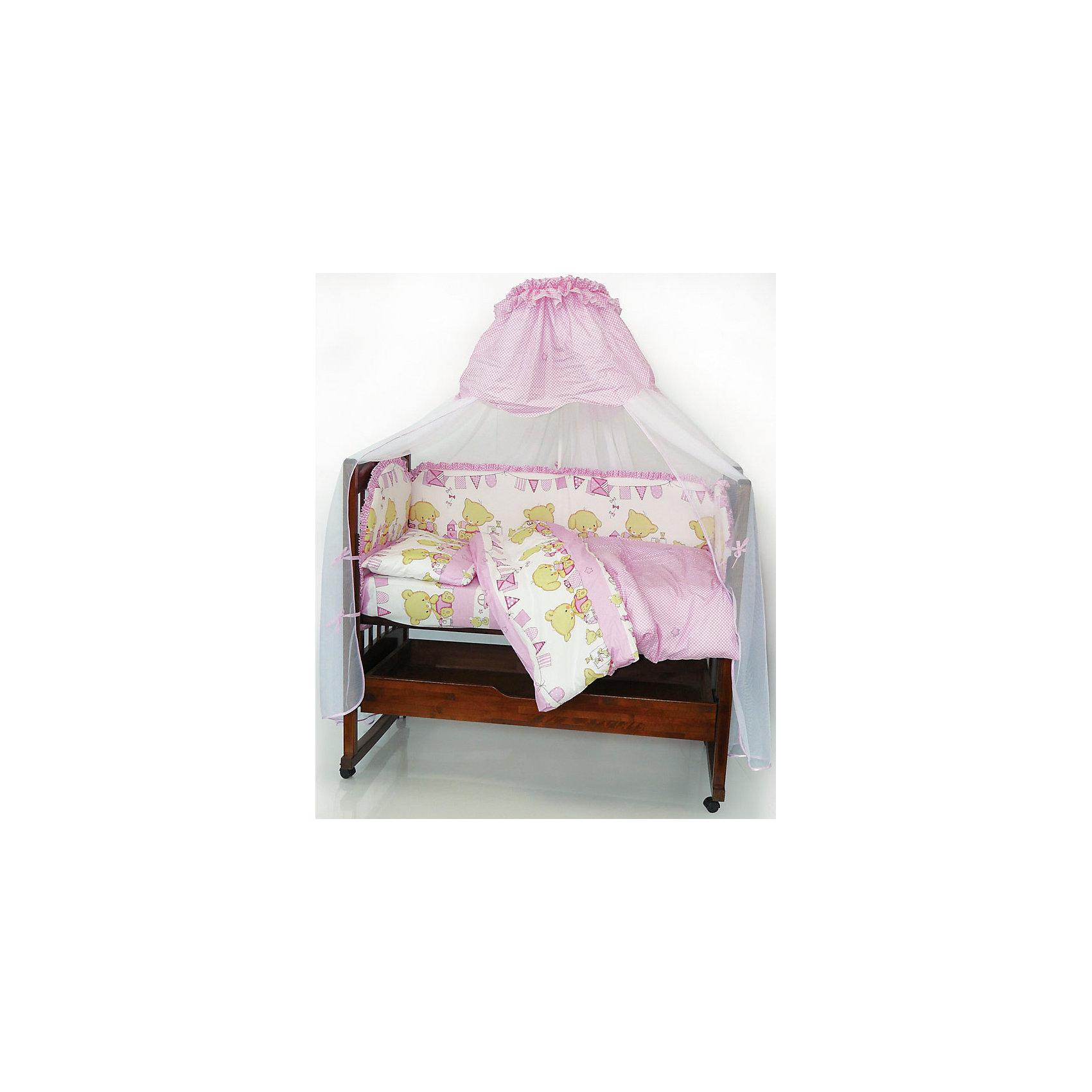 Постельное белье Звездочка, 3 пр., розовыйЭтот чудесный комплект в кроватку обеспечит комфорт и уют малышу. Простынка удобного размера  хорошо заправляется, подходит для стандартных матрасов. Милая расцветка прекрасно впишется в интерьер детской комнаты. Комплект изготовлен из натурального хлопка, приятного к телу, хорошо пропускает воздух, не выцветает, не линяет во время стирки.<br><br>Дополнительная информация:<br><br>- Комплектация: наволочка, простыня на резинке, пододеяльник.<br>- Материал: 100% хлопок.<br>- Размер: наволочка 40х60 см, пододеяльник 147х112 см., простыня 120х60 см.<br>- Цвет: розовый. <br>- Декоративные элементы: принт.<br><br>Постельное белье Звездочка, 3 пр., розовое, можно купить в нашем магазине.<br><br>Ширина мм: 250<br>Глубина мм: 200<br>Высота мм: 50<br>Вес г: 500<br>Возраст от месяцев: 0<br>Возраст до месяцев: 36<br>Пол: Женский<br>Возраст: Детский<br>SKU: 4051715