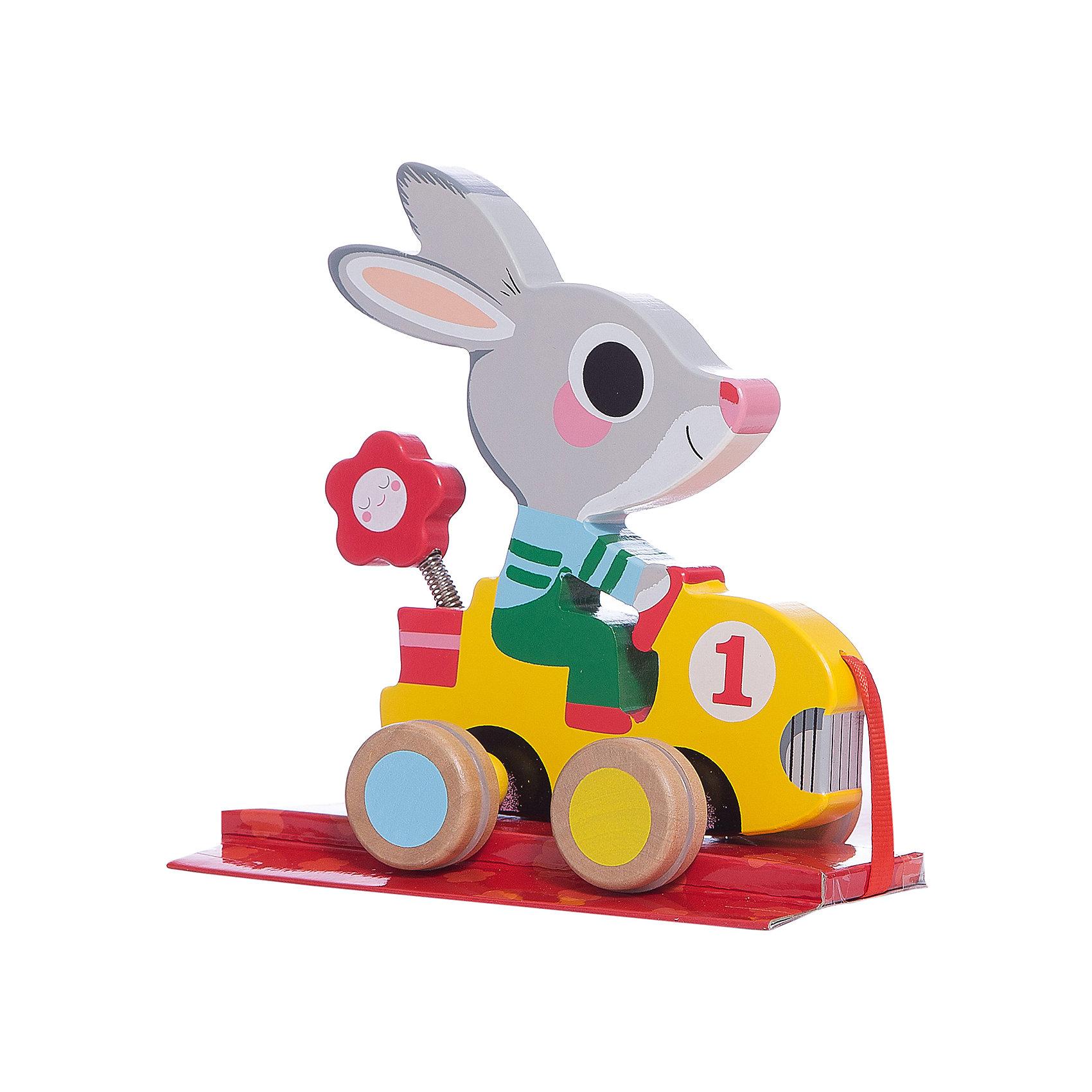 Каталка «Заяц» , DJECOИгрушки-каталки<br>Детская каталка в виде чудесного зайчика на машине – необходимая игрушка для ребенка, который делает свои первые шаги. Зайца можно просто покатать или повозить  за веревочку. Веселый зайчик станет незаменимым помощником  и другом на первых самостоятельных прогулках вашего малыша. Игрушка выполнена из натурального дерева, не имеет острых углов и мелких деталей, раскрашена экологически чистыми красками на водной основе. Безопасна для детей. <br><br>Дополнительная информация:<br><br>- Материал: дерево, текстиль, резина.<br>- Размер: 13х16х10 см.<br>- Колеса имеют резиновые накладки.<br><br>Каталку «Заяц» , DJECO (Джеко), можно купить в нашем магазине.<br><br>Ширина мм: 150<br>Глубина мм: 170<br>Высота мм: 80<br>Вес г: 450<br>Возраст от месяцев: 18<br>Возраст до месяцев: 36<br>Пол: Унисекс<br>Возраст: Детский<br>SKU: 4051890