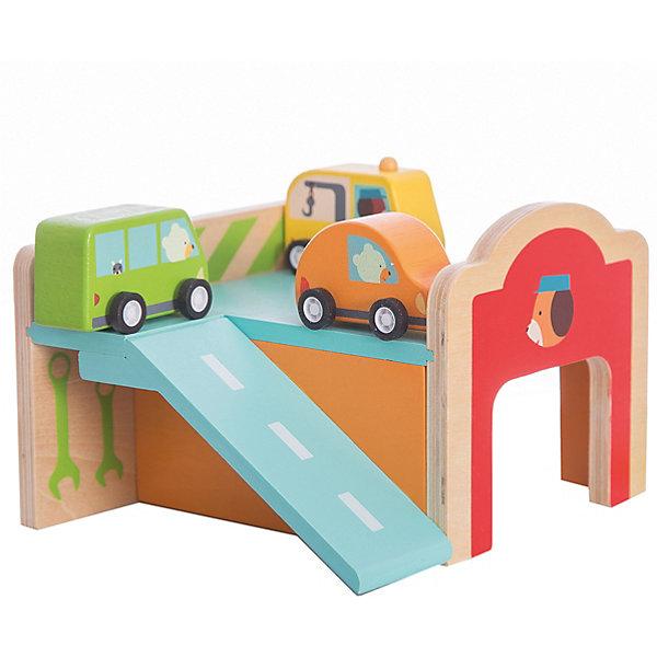 Конструктор Гараж , DJECOОкружающий мир<br>Игрушечный деревянный конструктор Гараж - яркая и интересная игрушка, которая приведет в восторг каждого мальчишку. В наборе малыш найдет деревянный двухуровневый паркинг с гаражом, парковкой и горочкой-съездом. В комплекте также есть 3 ярких небольших машинки, оранжевая, зеленая и желтая, которые будет удобно катать по всем элементам паркинга. <br>Набор прекрасно развивает моторику маленьких рук, фантазию и воображение, дает понимание форм и объемов. Игрушка выполнена из натурального дерева, не имеет острых углов и мелких деталей, раскрашена экологически чистыми красками на водной основе. Безопасна для детей. <br><br>Дополнительная информация:<br><br>- Материал: дерево.<br>- Размер игрушки: 50х31х20 см.<br>- Комплектация: 21 деталь, инструкция.<br><br>Конструктор Гараж , DJECO (Джеко), можно купить в нашем магазине.<br>Ширина мм: 170; Глубина мм: 115; Высота мм: 150; Вес г: 600; Возраст от месяцев: 18; Возраст до месяцев: 48; Пол: Унисекс; Возраст: Детский; SKU: 4051892;