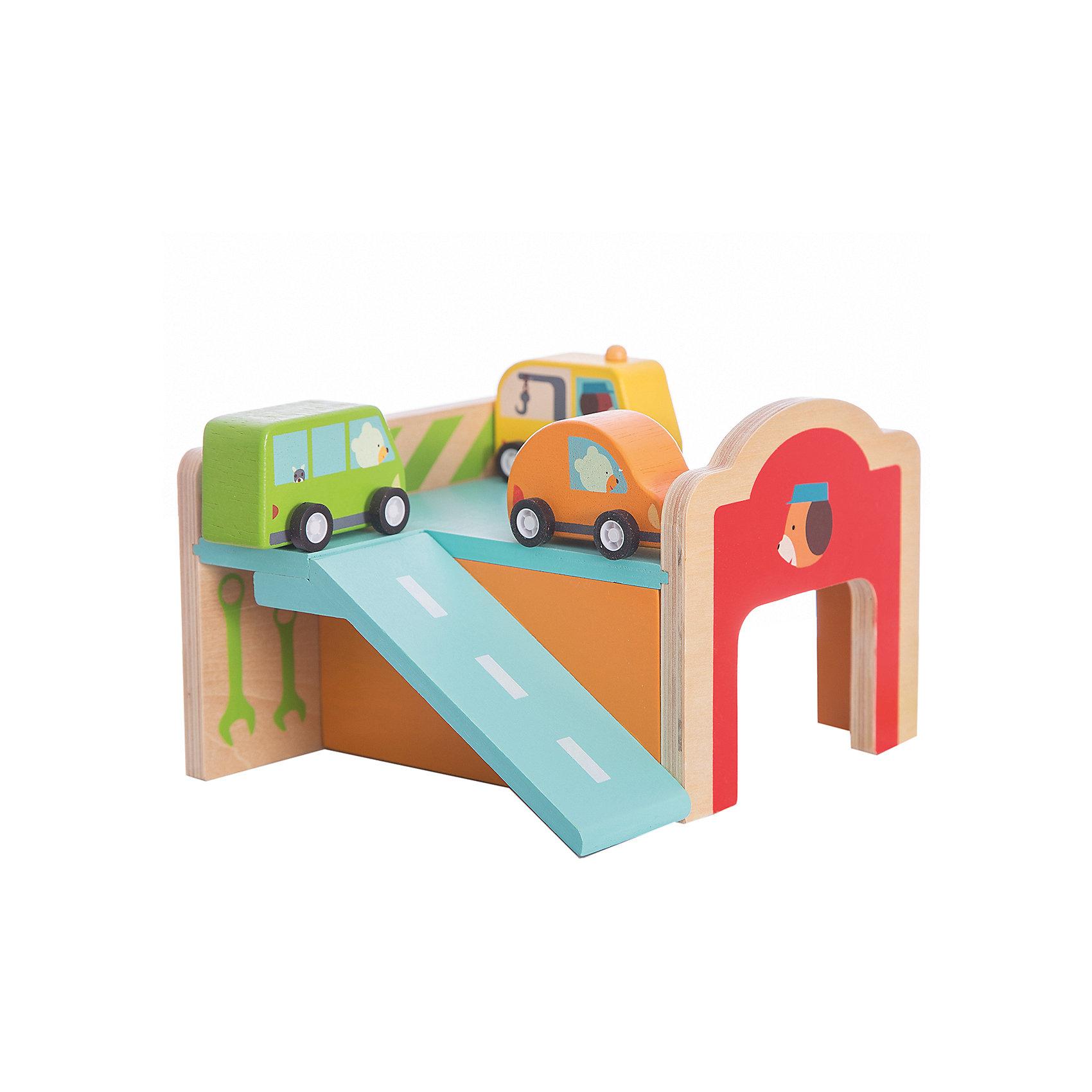 Конструктор Гараж , DJECOРазвивающие игры<br>Игрушечный деревянный конструктор Гараж - яркая и интересная игрушка, которая приведет в восторг каждого мальчишку. В наборе малыш найдет деревянный двухуровневый паркинг с гаражом, парковкой и горочкой-съездом. В комплекте также есть 3 ярких небольших машинки, оранжевая, зеленая и желтая, которые будет удобно катать по всем элементам паркинга. <br>Набор прекрасно развивает моторику маленьких рук, фантазию и воображение, дает понимание форм и объемов. Игрушка выполнена из натурального дерева, не имеет острых углов и мелких деталей, раскрашена экологически чистыми красками на водной основе. Безопасна для детей. <br><br>Дополнительная информация:<br><br>- Материал: дерево.<br>- Размер игрушки: 50х31х20 см.<br>- Комплектация: 21 деталь, инструкция.<br><br>Конструктор Гараж , DJECO (Джеко), можно купить в нашем магазине.<br><br>Ширина мм: 170<br>Глубина мм: 115<br>Высота мм: 150<br>Вес г: 600<br>Возраст от месяцев: 18<br>Возраст до месяцев: 48<br>Пол: Унисекс<br>Возраст: Детский<br>SKU: 4051892