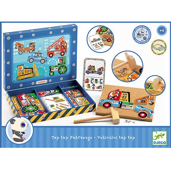 Конструктор-игра Автомастерская , DJECOИдеи подарков<br>Игрушечный деревянный конструктор Автомастерская - яркая и интересная игрушка, которая приведет в восторг каждого мальчишку. Подбирая различные детали, можно создать интересные модели машинок. В комплект входит пробковая доска для сборки моделей, деревянный молоток, 5 карточек с инструкцией по сборке, 40 гвоздиков, деревянные части машин. Дети смогут проявить свои творческие способности, развить мелкую моторику рук и креативное мышление. Игрушка выполнена из натурального дерева, не имеет острых углов и мелких деталей, раскрашена экологически чистыми красками на водной основе. Безопасна для детей. <br><br>Дополнительная информация:<br><br>- Материал: дерево.<br>- Размер упаковки: 30х22,5х3,5 см.<br>- Комплектация: пробковая доска, гвоздики (40 шт), части машинок, молоток, карточки с инструкциями (5 шт).<br><br>Конструктор Автомастерская , DJECO (Джеко), можно купить в нашем магазине.<br><br>Ширина мм: 300<br>Глубина мм: 225<br>Высота мм: 35<br>Вес г: 450<br>Возраст от месяцев: 36<br>Возраст до месяцев: 84<br>Пол: Унисекс<br>Возраст: Детский<br>SKU: 4051893