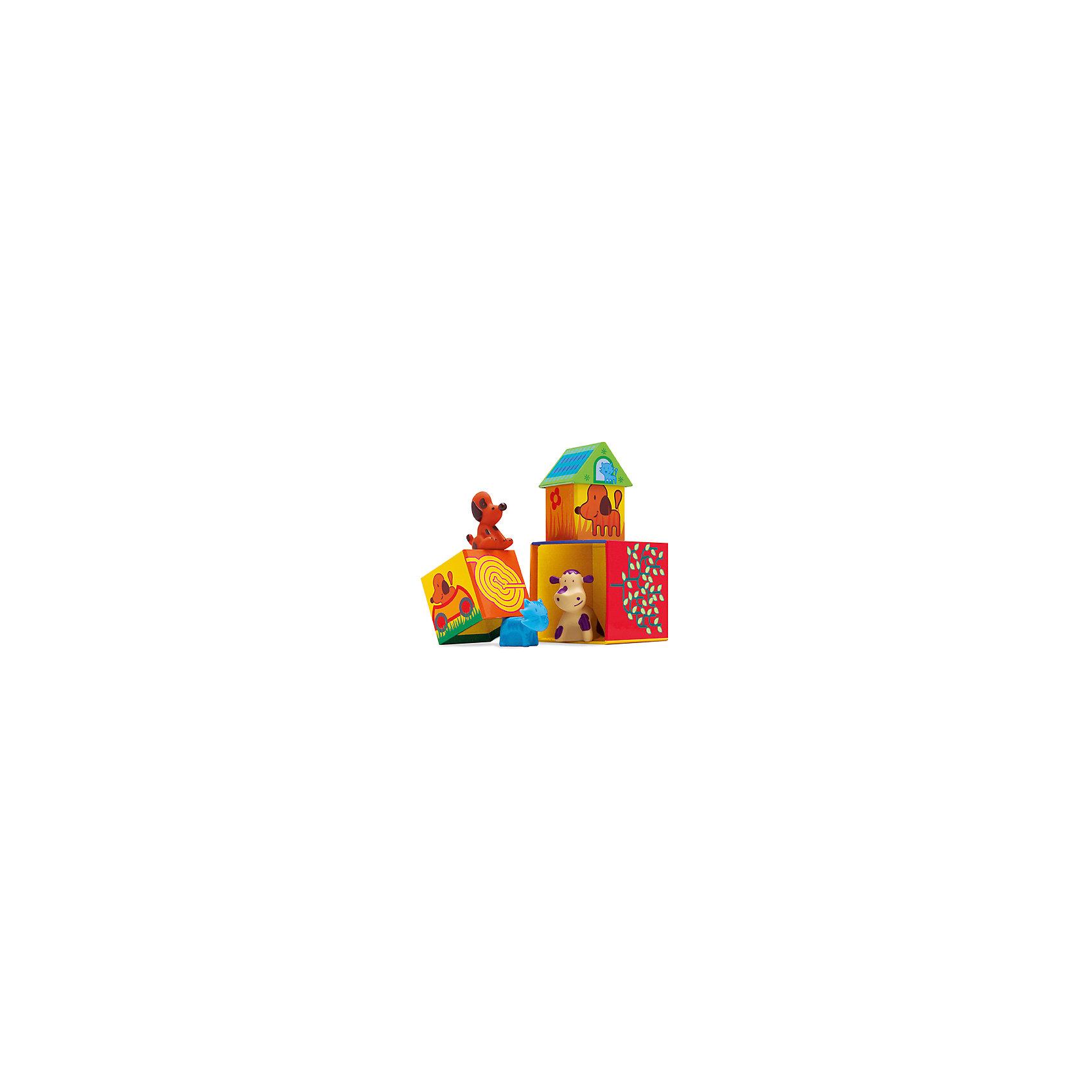 Набор Кубанимо ( 14 куб.+ 3 жив.) , DJECOРазвивающие игры<br>Развивающий набор «Кубанимо» - красочная и увлекательная игра для самых маленьких. Малышу предоставляется возможность создать чудо - городок для забавных зверят. А затем,  можно поиграть в сюжетно-ролевую игру, главную роль в которой возьмет на себя ребенок. Домики выполнены из плотного яркого картона, фигурки животных резиновые, игрушки экологически безопасны, приятны для детских ручек, и способствуют развитию тактильных  ощущений. Набор для детского развития идеально подходит для игры вместе с другими детьми. <br><br>Дополнительная информация:<br><br>- Материал: картон, пластик, резина.<br>- Размер упаковки: 21х24х15 см.<br>- Комплектация: 3 фигурки, 14 кубиков, инструкция.<br>- Количество игроков: 1 - 3 <br><br>Набор Кубанимо ( 14 куб.+ 3 жив.) , DJECO (Джеко), можно купить в нашем магазине.<br><br>Ширина мм: 210<br>Глубина мм: 235<br>Высота мм: 150<br>Вес г: 260<br>Возраст от месяцев: 18<br>Возраст до месяцев: 36<br>Пол: Унисекс<br>Возраст: Детский<br>SKU: 4051902