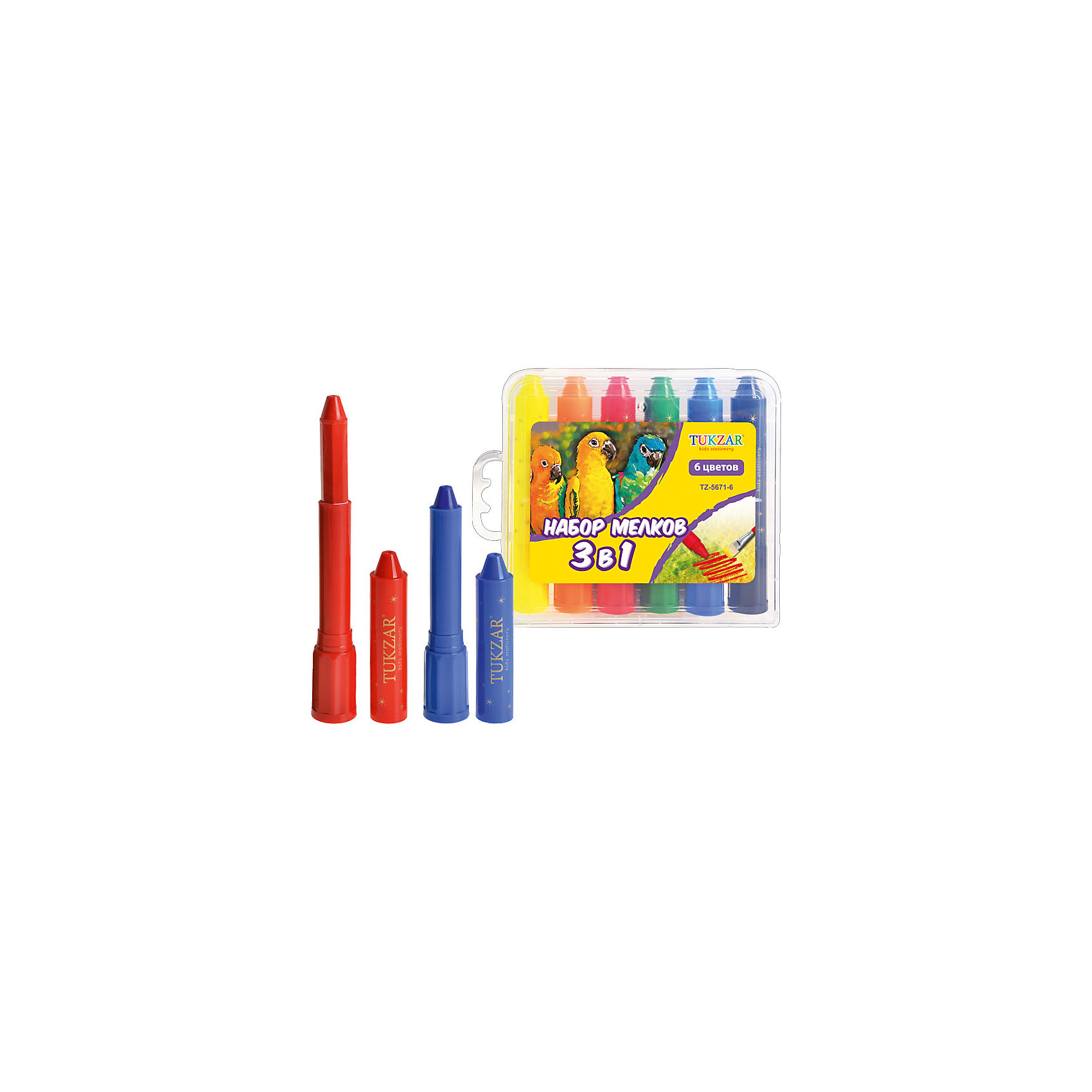 Набор мелков 3 в 1: пастель, акварель, пальчиковые краски, 6 цветовНабор мелков 3 в 1: пастель, акварель, пальчиковые краски, 6 цветов – этот набор подарит ребенку возможность рисовать тремя способами.<br>Набор мелков 3 в 1 сочетает в себе свойства обычных восковых мелков, пастели, акварели и пальчиковых красок. Цвета можно смешивать, как при работе с пастелью. А если к процессу рисования такими мелками подключить и влажную кисть, то мелки приобретают свойства акварели. Выкручивающийся механизм обеспечит постепенное выдвижение воскового грифеля из пластикового корпуса, благодаря чему ребенок не испачкается при рисовании.<br><br>Дополнительная информация:<br><br>- Количество цветов: 6<br>- Пластиковая упаковка<br>- Размер упаковки: 240х170х20 мм.<br><br>Набор мелков 3 в 1: пастель, акварель, пальчиковые краски, 6 цветов можно купить в нашем интернет-магазине.<br><br>Ширина мм: 240<br>Глубина мм: 170<br>Высота мм: 20<br>Вес г: 350<br>Возраст от месяцев: 36<br>Возраст до месяцев: 144<br>Пол: Унисекс<br>Возраст: Детский<br>SKU: 4051909