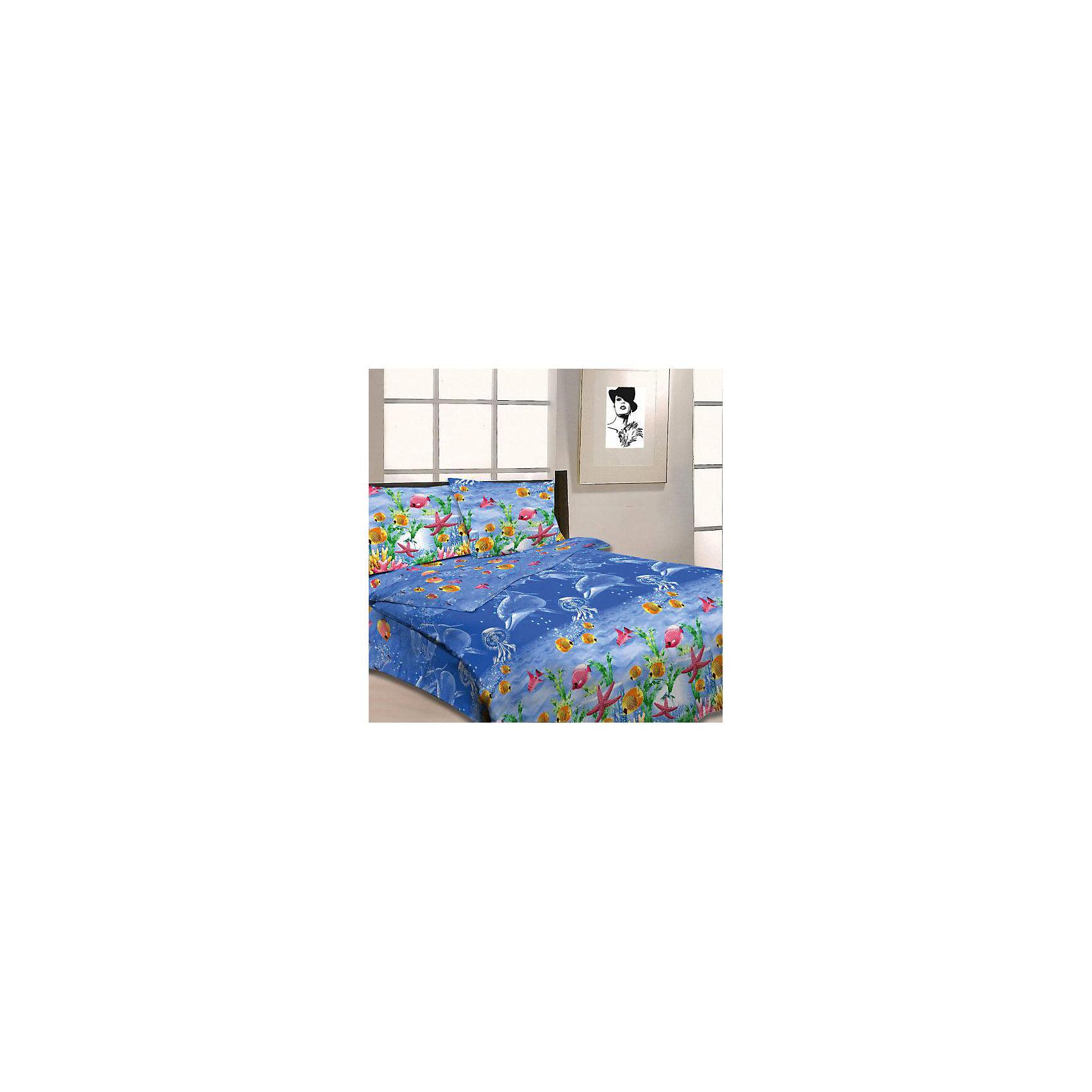Letto Комплект 3D Морской мир 1,5-спальный (2 наволочки 70х70см), Letto комплект белья letto народные узоры 1 5 спальный наволочки 70х70 цвет красный белый бордовый