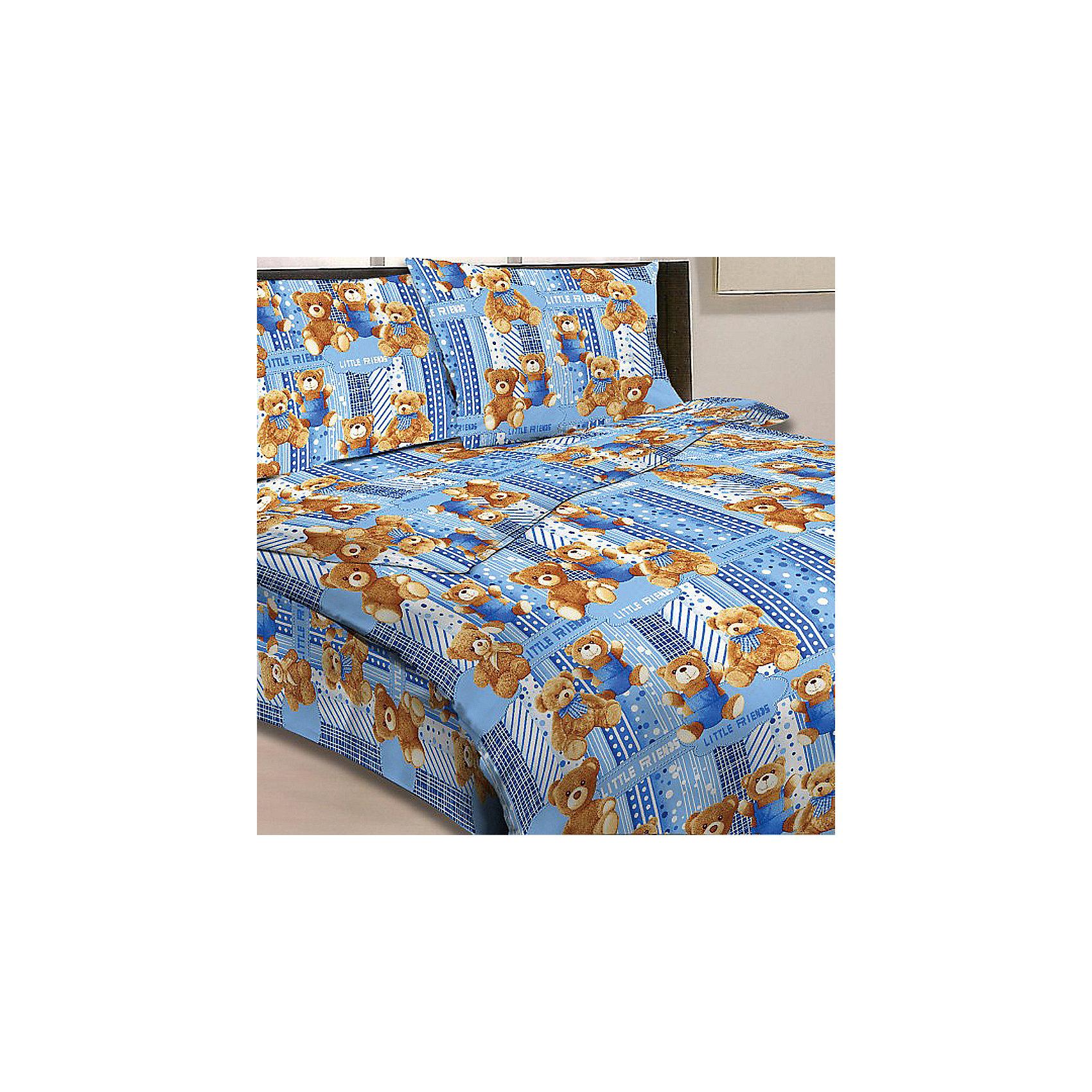 Голубой комплект Мишки 1,5-спальный (наволочка 50х70см), LettoДомашний текстиль<br>С комплектом постельного белья Мишки, Letto, Ваш ребенок с удовольствием будет укладываться в свою кроватку и видеть чудесные сказочные сны. Комплект выполнен в приятных голубых тонах и украшен изображениями очаровательных плюшевых мишек Тедди. Материал представляет собой качественную плотную бязь, очень комфортную и приятную на ощупь. Ткань отвечает всем экологическим нормам безопасности, дышащая, гипоаллергенная, не нарушает естественные процессы терморегуляции. При стирке белье не линяет, не деформируется и не теряет своих красок даже после многочисленных стирок. Можно стирать в машинке в деликатном режиме 30-40 градусов.<br><br>Дополнительная информация:<br><br>- Размер комплекта: полутораспальный.<br>- Тип ткани: бязь (100% хлопок).<br>- В комплекте: 1 наволочка, 1 пододеяльник, 1 простыня.<br>- Размер пододеяльника: 143 х 215 см.<br>- Размер наволочки: 50 х 70 см.<br>- Размер простыни: 150 х 220 см.<br>- Размер упаковки: 39 х 4 х 28 см.<br>- Вес: 1,4 кг. <br><br>Голубой комплект Мишки 1,5 спальный, Letto, можно приобрести в нашем интернет-магазине.<br><br>Ширина мм: 390<br>Глубина мм: 280<br>Высота мм: 40<br>Вес г: 1400<br>Возраст от месяцев: 36<br>Возраст до месяцев: 120<br>Пол: Унисекс<br>Возраст: Детский<br>SKU: 4053111