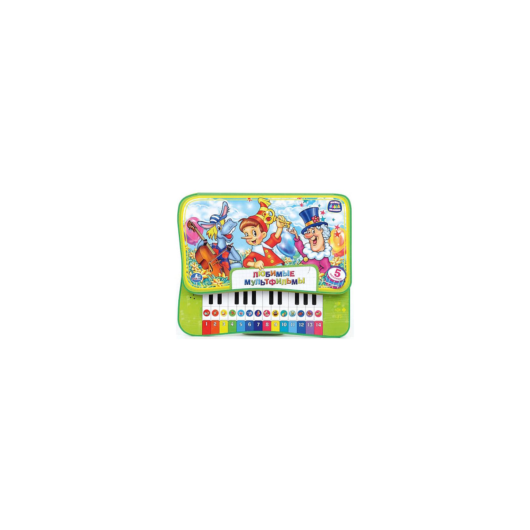Умка Книга-пианино Любимые мультфильмы банкетку для пианино в новокузнецке