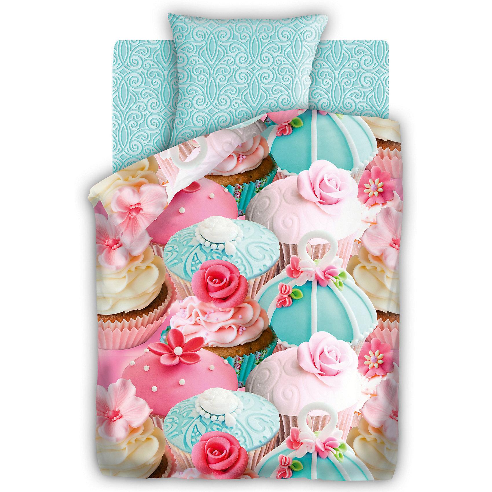Постельное белье 1,5 бязь 3D, 70*70, FOR YOU, КапкейкКомплект постельного белья 3D Капкейк, For you, с оригинальным стильным дизайном непременно понравится Вашей девочке. Комплект рассчитан на подростков 8-12 лет, выполнен в розовых и мятных тонах и украшен симпатичным принтом в виде аппетитных пирожных. Материал<br>представляет собой качественную плотную бязь, очень комфортную и приятную на ощупь. Ткань отвечает всем экологическим нормам безопасности, дышащая, гипоаллергенная, не нарушает естественные процессы терморегуляции. При стирке белье не линяет, не деформируется и<br>не теряет своих красок даже после многочисленных стирок.<br><br><br>Дополнительная информация:<br><br>- Размер комплекта: полутораспальный.<br>- Тип ткани: бязь (100% хлопок).<br>- В комплекте: 1 наволочка, 1 пододеяльник и 1 простыня.<br>- Размер пододеяльника: 215 х 143 см.<br>- Размер наволочки: 70 х 70 см.<br>- Размер простыни: 214 х 150 см.<br>- Размер упаковки: 25 х 7 х 35 см.<br>- Вес: 2,3 кг. <br><br>Комплект 3D Капкейк, 1,5 спальный, For you, можно приобрести в нашем интернет-магазине.<br><br>Ширина мм: 250<br>Глубина мм: 350<br>Высота мм: 70<br>Вес г: 2300<br>Возраст от месяцев: 36<br>Возраст до месяцев: 204<br>Пол: Женский<br>Возраст: Детский<br>SKU: 4053631
