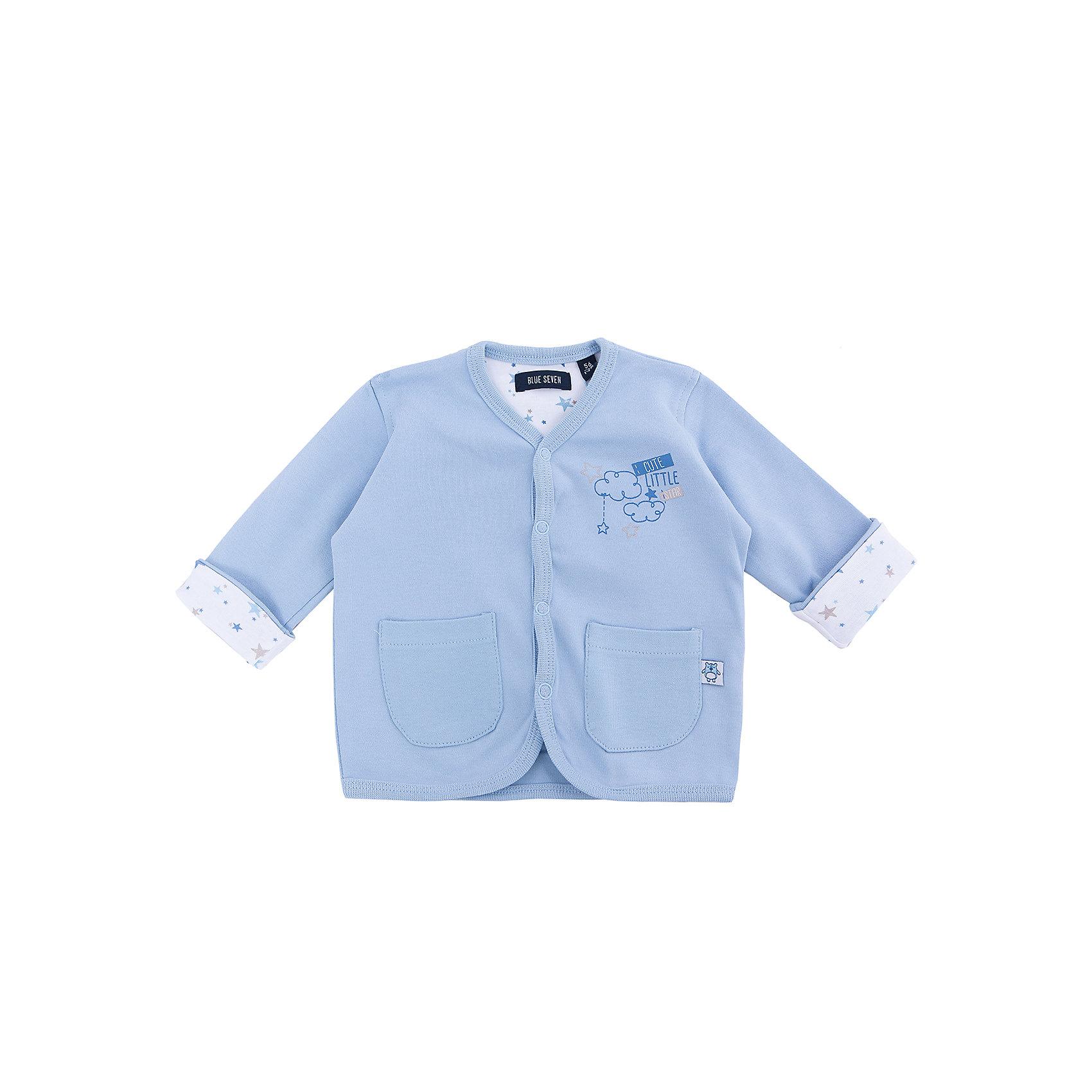 Кофта для мальчика BLUE SEVENКофта для мальчика от известного бренда Blue Seven. Состав: 100% хлопок<br><br>Ширина мм: 190<br>Глубина мм: 74<br>Высота мм: 229<br>Вес г: 236<br>Цвет: голубой<br>Возраст от месяцев: 3<br>Возраст до месяцев: 6<br>Пол: Мужской<br>Возраст: Детский<br>Размер: 68,56,62<br>SKU: 4054536