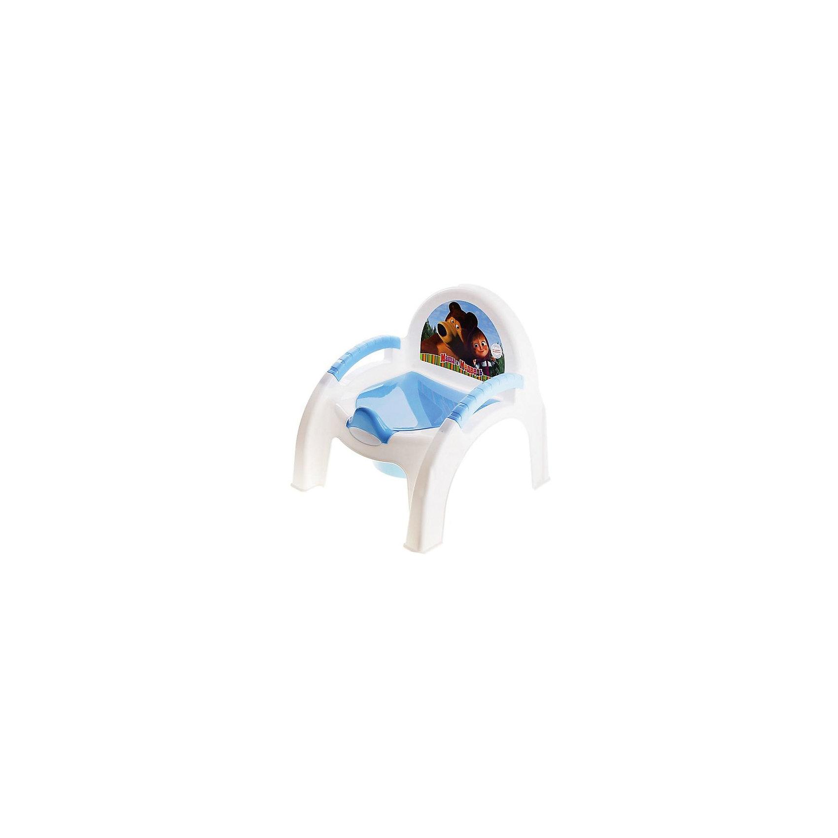 Горшок-стульчик Маша и Медведь, голубой
