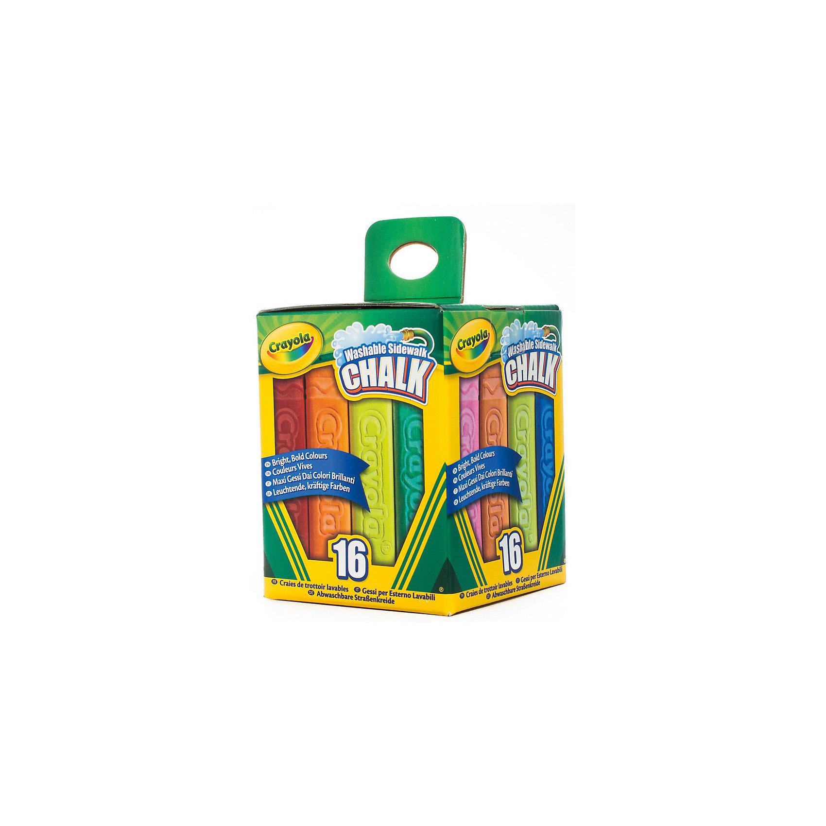Мел для рисования на асфальте, 16 шт., CrayolaВ этом наборе вы найдете богатую палитру оттенков. Целых 16 разноцветных смываемых мелков для рисования от Crayola (Крайола). Ими можно нарисовать все, что угодно. Мелки оставляют максимально яркие и насыщенные следы на асфальте. Попробуйте, чтобы убедиться в этом. <br>Благодаря специальной утолщенной форме мелки обладают стойкостью к повреждениям. Такой мелок не расколется от чрезмерного нажима или падения на асфальте. <br><br>Эти мелки легко смываются не только с детских рук и одежды, но и с асфальта и камня. Просто полейте нужный участок водой, и можно рисовать заново! <br><br>Дополнительная информация:<br><br>Длина одного мелка – 10 см, ширина – 2,5 см. <br>Размеры упаковки:12х9х9 см. <br>Вес коробки с мелками: 540 грамм.<br><br>Мел для рисования на асфальте, 16 шт., Crayola (Крайола) можно купить в нашем магазине.<br><br>Ширина мм: 118<br>Глубина мм: 90<br>Высота мм: 90<br>Вес г: 539<br>Возраст от месяцев: 48<br>Возраст до месяцев: 144<br>Пол: Унисекс<br>Возраст: Детский<br>SKU: 4055299