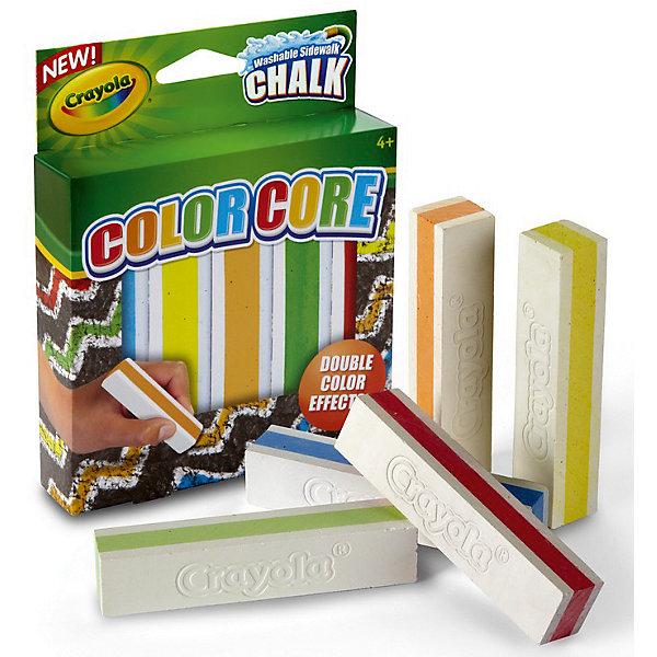 Набор мела для асфальта с цветными стержнями, 5 цв., Crayola