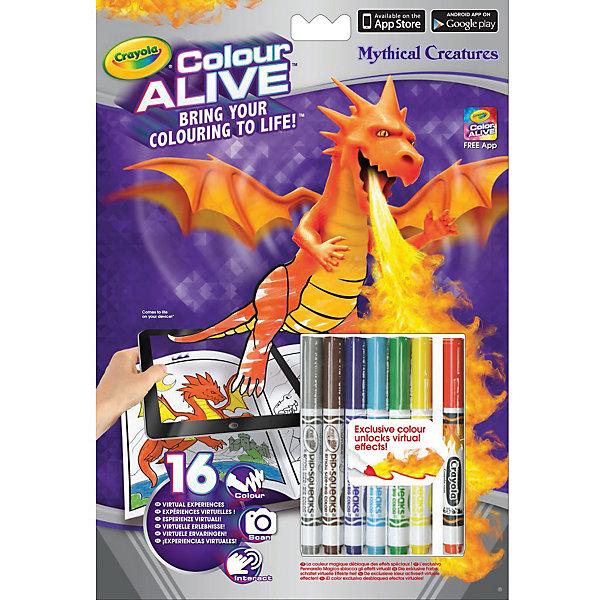 Интерактивная раскраска Colour Alive Драконы, CrayolaРаскраски по номерам<br>Вдохни жизнь в свои рисунки вместе с новыми уникальными интерактивными книжками-раскрасками от Crayola (Крайола)!  <br><br>Как и обычная раскраска, интерактивная книжка-раскраска «Зачарованный лес» начинается с обычного листа бумаги. Создай уникальный дизайн персонажа на картинке, затем используй специальный карандаш, который разблокирует виртуальные эффекты в бесплатном приложении Color Alive на своём мобильном устройстве на базе Android или IOS, и чудесные герои зачарованного леса оживут! Теперь ты сможешь сфотографироваться вместе со своим творением или снять небольшое видео. Ведь каждый персонаж на одной из 16 страниц раскраски обладает своей уникальной анимацией и звуковыми эффектами. <br><br>Дополнительная информация:<br><br>В комплекте к интерактивной книжке-раскраске «Зачарованный лес», включающей 16 страниц, есть 6 цветных карандашей Crayola (Крайола) и один специальный карандаш Pixie Dust, который разблокирует виртуальные эффекты в приложении Color Alive.  <br><br>Удобные карандаши Crayola (Крайола) легко держать в руке, они созданы из экологически чистых материалов и безвредны для малыша. С помощью книжки-раскраски ребёнок развивает своё воображение и творческие навыки, а также тренирует мелкую моторику рук.<br><br>Интерактивную раскраску Colour Alive Драконы, Crayola (Крайола) можно купить в нашем магазине.<br>Ширина мм: 202; Глубина мм: 295; Высота мм: 10; Вес г: 140; Возраст от месяцев: 36; Возраст до месяцев: 108; Пол: Мужской; Возраст: Детский; SKU: 4055307;