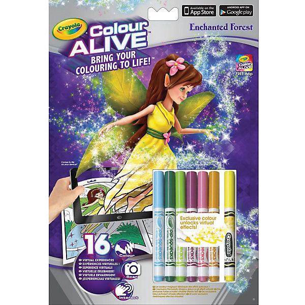 Интерактивная раскраска Colour Alive Заколдованный сад, CrayolaРаскраски по номерам<br>Вдохни жизнь в свои рисунки вместе с новыми уникальными интерактивными книжками-раскрасками от Crayola (Крайола)! <br><br>Как и обычная раскраска, интерактивная книжка-раскраска «Мифические существа» начинается с обычного листа бумаги. Создай уникальный дизайн персонажа на картинке, затем используй специальный карандаш, который разблокирует виртуальные эффекты в бесплатном приложении Color Alive на своём мобильном устройстве на базе Android или IOS, и невероятные мифические существа оживут! Теперь ты сможешь сфотографироваться вместе со своим творением или снять небольшое видео. Ведь каждый персонаж на одной из 16 страниц раскраски обладает своей уникальной анимацией и звуковыми эффектами. <br><br>Дополнительная информация:<br><br>В комплекте к интерактивной книжке-раскраске «Мифические существа», включающей 16 страниц, есть 6 цветных карандашей Crayola (Крайола) и один специальный карандаш Fire Breath, который разблокирует виртуальные эффекты в приложении Color Alive. <br><br>Удобные карандаши Crayola (Крайола) легко держать в руке, они созданы из экологически чистых материалов и безвредны для малыша. С помощью книжки-раскраски ребёнок развивает своё воображение и творческие навыки, а также тренирует мелкую моторику рук.<br><br>Ширина мм: 202<br>Глубина мм: 295<br>Высота мм: 10<br>Вес г: 140<br>Возраст от месяцев: 36<br>Возраст до месяцев: 108<br>Пол: Женский<br>Возраст: Детский<br>SKU: 4055308