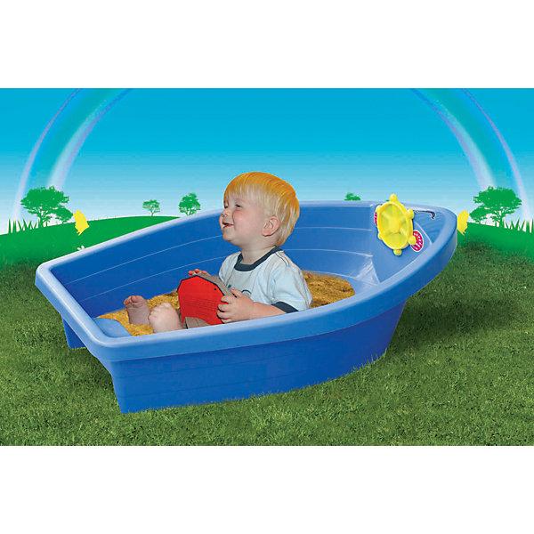 Бассейн - Лодочка, PalPlay, в ассортиментеИграем в песочнице<br>Песочница - бассейн Лодочка, Marian Plast (Мариан Пласт) обязательно понравится Вашему малышу и станет его любимым местом для игр. Малыши очень любят игры в песке, куличики, а также игры с водой. Песочница Лодочка совмещает в себе эти две игровые возможности, ее можно использовать и как песочницу и как минибассейн. Песочница-басейн выполнена в виде яркой лодочки, внутри имеется сиденье куда можно присесть и штурвал. Благодаря своим компактным размерам она хорошо разместится на дачном участке и не займет много места. Игрушка изготовлена из прочного пластика, округлой формы без острых углов. В комплект также входят набор наклеек для украшения лодочки.<br><br>Дополнительная информация:<br><br>- В комплекте: песочница-бассейн, наклейки. <br>- Материал: высокопрочный пластик.<br>- Размер: 129 х 73 х 39 см.<br>- Вес: 3,8 кг.<br><br>Бассейн - Лодочку, Marian Plast (Мариан Пласт) можно купить в нашем интернет-магазине.<br>Ширина мм: 129; Глубина мм: 73; Высота мм: 39; Вес г: 3800; Возраст от месяцев: 24; Возраст до месяцев: 72; Пол: Унисекс; Возраст: Детский; SKU: 4055311;