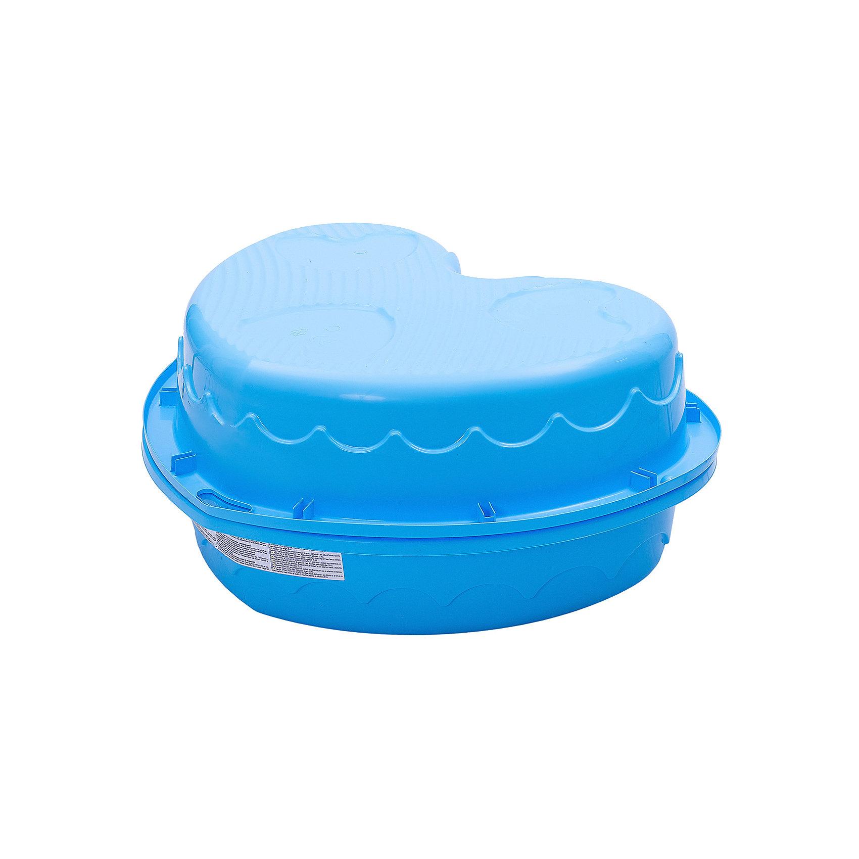 Двойная песочница Сердечко, голубой, MarianplastMarian Plast Песочница-бассейн Сердечко удобна как для игры на улице, так и в закрытом помещении (если наполнить ее специальными шариками – не входят в комплект).<br><br>Песочница состоит из 2-ух частей, что позволяет закрывать ее от дождя. Одну из частей песочницы можно использовать в качестве крышки, которая защитит песочницу от домашних животных, попадания песка и листьев. В песочнице есть 2 сиденья, и Ваш малыш сможет не только играть в песок, но и поплескаться в воде со своими друзьями. <br>Крепежи не идут в комплекте, так как не требуются.<br>Размеры песочницы Сердечко Marian Plast 435 позволяют перевезти ее на любом легковом автомобиле. <br><br>Дополнительная информация:<br>- Размеры: <br>высота бортиков 20 см,<br>в разложенном виде размер песочницы-бассейна 180х79х20 см, высота в сложенном виде - 40 см<br>- Вес - 3,2 кг;<br>- Песочница изготовлена из прочного, нетоксичного, гипоаллергенного пластика<br><br>Песочница - бассейн Сердечко MarianPlast (Марианпласт) отлично подойдет для летнего отдыха Вашего малыша на даче.<br><br>Ширина мм: 905<br>Глубина мм: 790<br>Высота мм: 400<br>Вес г: 3160<br>Возраст от месяцев: 144<br>Возраст до месяцев: 60<br>Пол: Унисекс<br>Возраст: Детский<br>SKU: 4055317