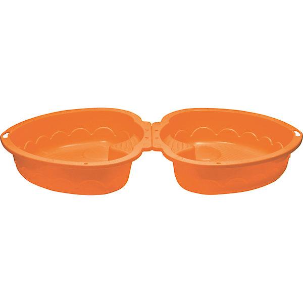 Двойная песочница Сердечко, оранжевая, PalPlayИграем в песочнице<br>Marian Plast Песочница-бассейн Сердечко удобна как для игры на улице, так и в закрытом помещении (если наполнить ее специальными шариками – не входят в комплект).<br><br>Песочница состоит из 2-ух частей, что позволяет закрывать ее от дождя. Одну из частей песочницы можно использовать в качестве крышки, которая защитит песочницу от домашних животных, попадания песка и листьев. В песочнице есть 2 сиденья, и Ваш малыш сможет не только играть в песок, но и поплескаться в воде со своими друзьями. <br>Крепежи не идут в комплекте, так как не требуются.<br>Размеры песочницы Сердечко Marian Plast 435 позволяют перевезти ее на любом легковом автомобиле. <br><br>Дополнительная информация:<br>- Размеры: <br>высота бортиков 20 см,<br>в разложенном виде размер песочницы-бассейна 180х79х20 см, высота в сложенном виде - 40 см<br>- Вес - 3,2 кг;<br>- Песочница изготовлена из прочного, нетоксичного, гипоаллергенного пластика<br><br>Песочница - бассейн Сердечко MarianPlast (Марианпласт) отлично подойдет для летнего отдыха Вашего малыша на даче.<br><br>Ширина мм: 905<br>Глубина мм: 790<br>Высота мм: 400<br>Вес г: 3160<br>Возраст от месяцев: 144<br>Возраст до месяцев: 60<br>Пол: Унисекс<br>Возраст: Детский<br>SKU: 4055318