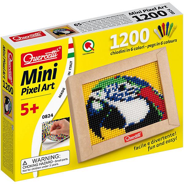 Пиксельная мозаика Попугай,1200 элементов, QuercettiМозаика<br>Пиксельная мозаика Попугай,1200 элементов, Quercetti (Кверчетти) – необычный способ создать настоящую картину из пластмассовых деталей.<br>Пиксельная мозаика Попугай 1200 элементов - развивает творческие способности у детей, внимание и усидчивость. Особенность пиксельной мозаики – мелкие элементы, которые издалека смотрятся единым цветовым пятном. За счет такого эффекта получаются удивительно реалистичные картины. Просто положите цветную схему на рабочее поле и начинайте втыкать гвоздики соответствующего цвета. После заполнения всего поля, картинку можно вставить в рамочку и повесить на стену, как настоящую картину. Не правда ли, попугай, как настоящий? Все элементы изготовлены из безопасного пластика ярких сочных оттенков. Пластиковые элементы можно мыть. Конструктор упакован в подарочную коробку.<br><br>Дополнительная информация:<br><br>- В наборе: 1200 гвоздиков 6-ти цветов, основа(наборная доска), 1 рамка для готовой работы, 1 схема, инструкция<br>- Материал: пластик<br>- Размер коробки: 220x170x36 мм.<br><br>Пиксельную мозаику Попугай,1200 элементов, Quercetti (Кверчетти) можно купить в нашем интернет-магазине.<br>Ширина мм: 220; Глубина мм: 170; Высота мм: 36; Вес г: 438; Возраст от месяцев: 60; Возраст до месяцев: 192; Пол: Унисекс; Возраст: Детский; SKU: 4057274;