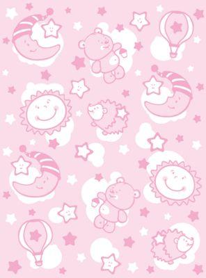 Одеяло байковое Звёздная ночь, 85х115, Baby Nice, розовый