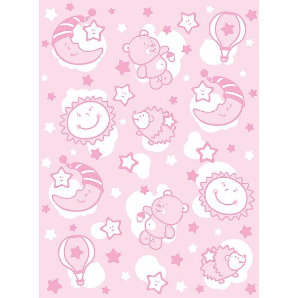 Одеяло байковое Звёздная ночь, 85х115, Baby Nice, розовыйОдеяла в кроватку новорождённого<br>Мягкое байковое одеяло Звездная ночь подарит малышам крепкий, комфортный и здоровый сон. Одеяло выполнено из натурального хлопка, прекрасно пропускает воздух, сохраняя при этом тепло, что обеспечивает поддержание комфортного микроклимата как дома, так и на прогулке. Абсолютно гипоаллергенное, идеально подходит для новорожденных детей. <br><br>Дополнительная информация:<br><br>- Материал: хлопок 100%, жаккард.<br>- Размер: 115х85 см. <br>- Отделка: оверлок.<br>- Цвет: розовый.<br>- Декоративные элементы: принт.<br>- Одностороннее.  <br>- Стирка: машинная при 40 ?. <br><br>Одеяло байковое Звёздная ночь, 85х115, Baby Nice (Беби Найс), розовое, можно купить в нашем магазине.<br>Ширина мм: 40; Глубина мм: 5; Высота мм: 30; Вес г: 500; Возраст от месяцев: 0; Возраст до месяцев: 60; Пол: Женский; Возраст: Детский; SKU: 4058251;