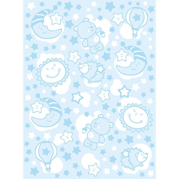 Одеяло байковое Звёздная ночь, 85х115, Baby Nice, голубойОдеяла в кроватку новорождённого<br>Мягкое байковое одеяло Звездная ночь подарит малышам крепкий, комфортный и здоровый сон. Одеяло выполнено из натурального хлопка, прекрасно пропускает воздух, сохраняя при этом тепло, что обеспечивает поддержание комфортного микроклимата как дома, так и на прогулке. Абсолютно гипоаллергенное, идеально подходит для новорожденных детей. <br><br>Дополнительная информация:<br><br>- Материал: хлопок 100%, жаккард.<br>- Размер: 115х85 см. <br>- Отделка: оверлок.<br>- Цвет: голубой.<br>- Декоративные элементы: принт.<br>- Одностороннее.  <br>- Стирка: машинная при 40 ?. <br><br>Одеяло байковое Звёздная ночь, 85х115, Baby Nice (Беби Найс), голубое, можно купить в нашем магазине.<br><br>Ширина мм: 40<br>Глубина мм: 5<br>Высота мм: 30<br>Вес г: 500<br>Возраст от месяцев: 0<br>Возраст до месяцев: 60<br>Пол: Мужской<br>Возраст: Детский<br>SKU: 4058252