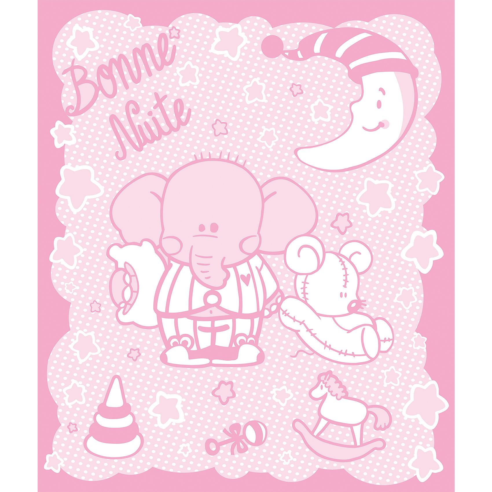Одеяло байковое Слоник 100х118, Baby Nice, розовыйМягкое байковое одеяло Слоник подарит малышам крепкий, комфортный и здоровый сон. Одеяло выполнено из натурального хлопка, прекрасно пропускает воздух, сохраняя при этом тепло, что обеспечивает поддержание комфортного микроклимата как дома, так и на прогулке. Абсолютно гипоаллергенное, идеально подходит для новорожденных детей. <br><br>Дополнительная информация:<br><br>- Материал: хлопок 100%, жаккард.<br>- Размер: 100х118 см. <br>- Отделка: оверлок.<br>- Цвет: розовый.<br>- Декоративные элементы: принт (слоник).<br>- Стирка: машинная при 40 ?. <br><br>Одеяло байковое Слоник 100х118, Baby Nice,(Беби Найс), розовое, можно купить в нашем магазине.<br><br>Ширина мм: 40<br>Глубина мм: 5<br>Высота мм: 30<br>Вес г: 500<br>Возраст от месяцев: 0<br>Возраст до месяцев: 60<br>Пол: Женский<br>Возраст: Детский<br>SKU: 4058259
