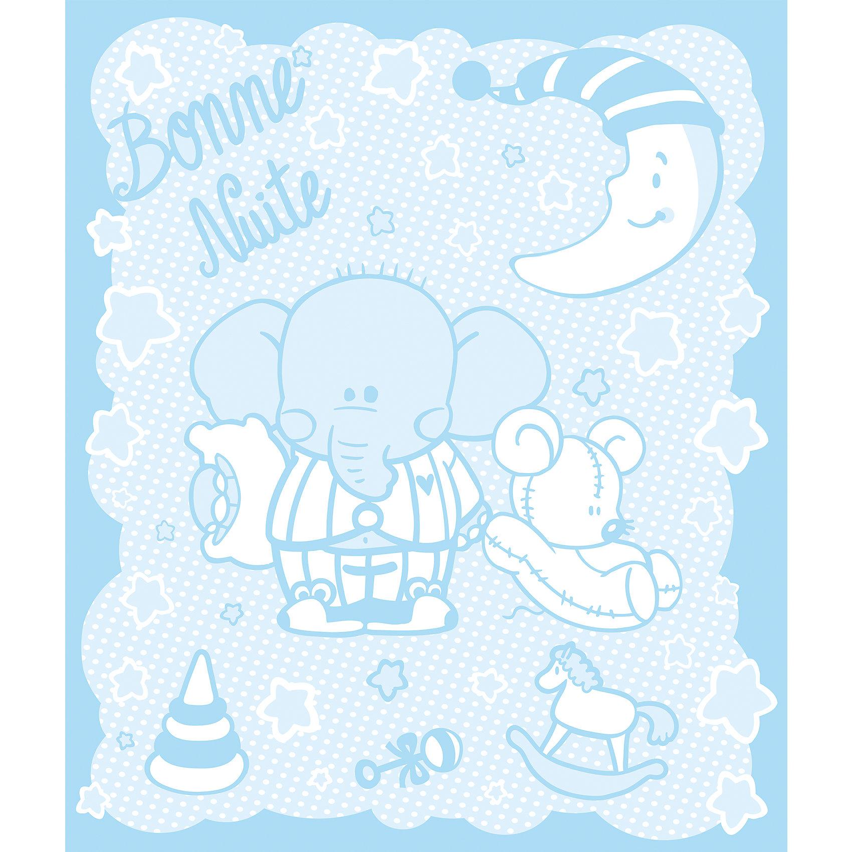 Одеяло байковое Слоник 100х118, Baby Nice, голубойМягкое байковое одеяло Слоник подарит малышам крепкий, комфортный и здоровый сон. Одеяло выполнено из натурального хлопка, прекрасно пропускает воздух, сохраняя при этом тепло, что обеспечивает поддержание комфортного микроклимата как дома, так и на прогулке. Абсолютно гипоаллергенное, идеально подходит для новорожденных детей. <br><br>Дополнительная информация:<br><br>- Материал: хлопок 100%, жаккард.<br>- Размер: 100х118 см. <br>- Отделка: оверлок.<br>- Цвет: голубой.<br>- Декоративные элементы: принт (слоник).<br>- Стирка: машинная при 40 ?. <br><br>Одеяло байковое Слоник 100х118, Baby Nice,(Беби Найс), голубое, можно купить в нашем магазине.<br><br>Ширина мм: 40<br>Глубина мм: 5<br>Высота мм: 30<br>Вес г: 500<br>Возраст от месяцев: 0<br>Возраст до месяцев: 60<br>Пол: Мужской<br>Возраст: Детский<br>SKU: 4058260