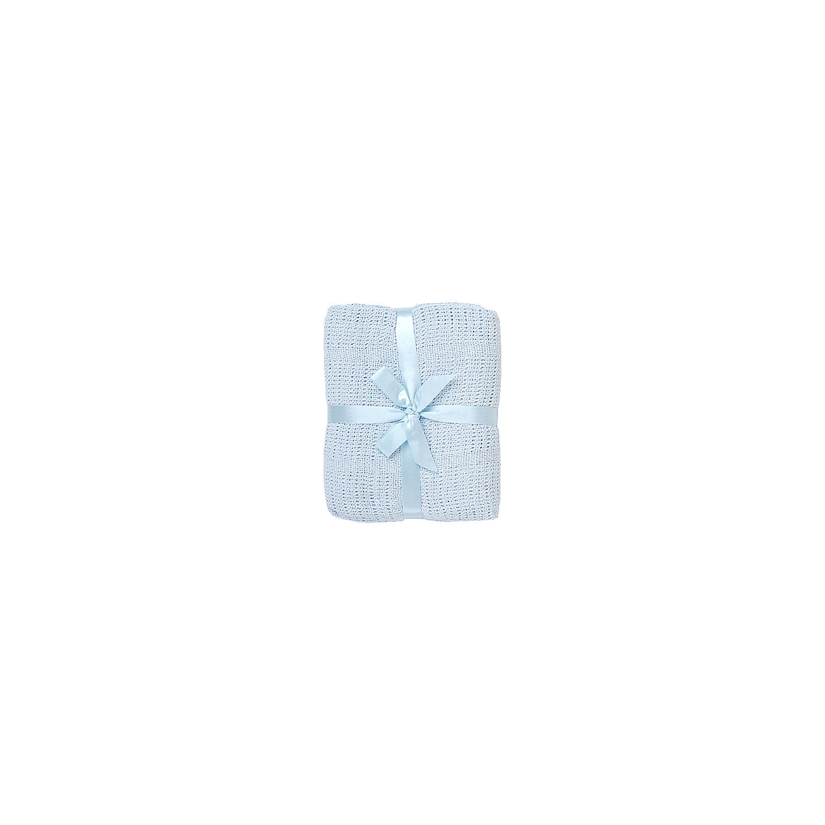 где купить Baby Nice Одеяло детское вязанное 90х120 Baby Nice, голубой по лучшей цене