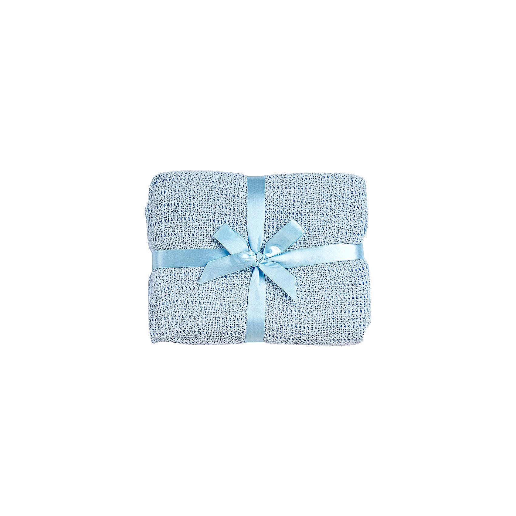 Одеяло детское вязанное 100х140 Baby Nice, голубой