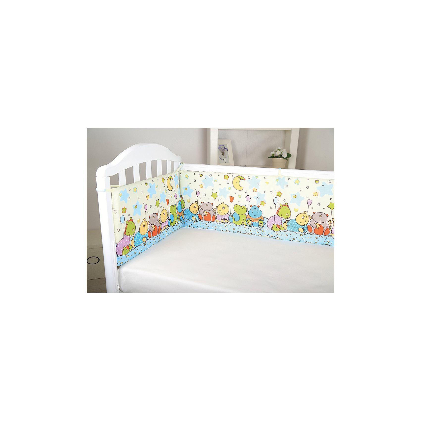 Борт в кроватку Звездопад, Baby Nice, желтыйМягкий борт в кроватку с нежным принтом и спокойной приятной расцветкой подарит крохе комфорт и безопасность. Борт - раздельный, выполнен из высококачественных гипоаллергенных материалов, сохраняющих цвет и свойства после стирки. <br><br><br>Дополнительная информация:<br><br>- Материал верха:  бязь (хлопок 100%).<br>- Наполнитель: периотек (полиэфирное волокно).<br>- Размер каждого бортика: 120х35-2 шт., 60х35-2 шт<br>- 4 бортика в комплекте.<br>- Цвет: желтый.<br><br>Борт в кроватку Звездопад, Baby Nice (Беби Найс), желтый, можно купить в нашем магазине.<br><br>Ширина мм: 600<br>Глубина мм: 350<br>Высота мм: 50<br>Вес г: 600<br>Возраст от месяцев: 0<br>Возраст до месяцев: 60<br>Пол: Унисекс<br>Возраст: Детский<br>SKU: 4058280