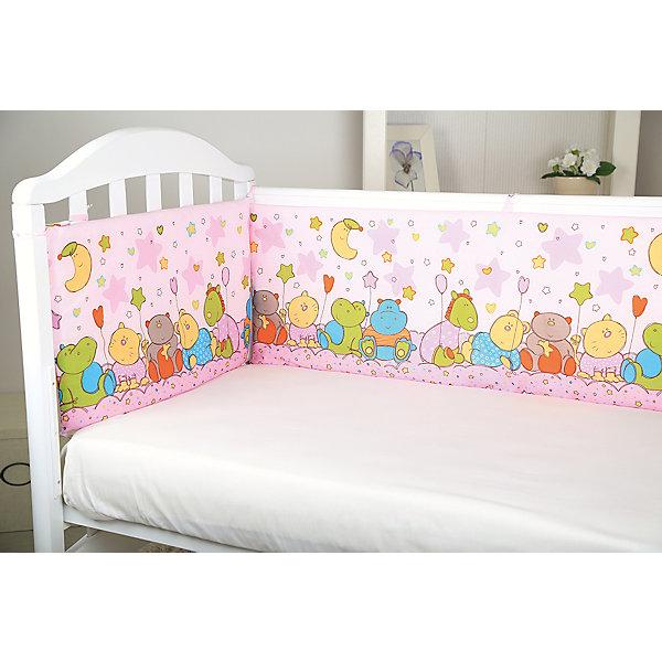 Борт в кроватку Звездопад, Baby Nice, розовыйПостельное белье в кроватку новорождённого<br>Мягкий борт в кроватку с нежным принтом и спокойной приятной расцветкой подарит крохе комфорт и безопасность. Борт - раздельный, выполнен из высококачественных гипоаллергенных материалов, сохраняющих цвет и свойства после стирки. <br><br>Дополнительная информация:<br><br>- Материал верха:  бязь (хлопок 100%).<br>- Наполнитель: периотек (полиэфирное волокно).<br>- Размер каждого бортика: 35х60 см.<br>- 4 бортика в комплекте.<br>- Цвет: розовый.<br><br>Борт в кроватку Звездопад, Baby Nice (Беби Найс), розовый, можно купить в нашем магазине.<br>Ширина мм: 70; Глубина мм: 10; Высота мм: 50; Вес г: 600; Возраст от месяцев: 0; Возраст до месяцев: 60; Пол: Женский; Возраст: Детский; SKU: 4058282;