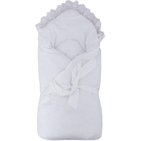 Конверт-одеяло на выписку Baby Nice, белыйКонверты на выписку<br>Конверт-одеяло на выписку выполнен из высококачественных гипоаллергенных материалов, прекрасно сохраняет тепло и пропускает воздух, создавая комфортный микроклимат в любую погоду. Практичный конверт гарантирует  уют и удобство для мам и малышей. Идеальный вариант для новорожденных. <br><br>Дополнительная информация:<br><br>- Материал верха: сатин ( хлопок 100%).<br>- Наполнитель: файберпласт (200 гр.)<br>- Материал подкладки: сатин (100% хлопок).<br>- Декоративная резинкой-фиксатор.<br>- Размер: 84х86 см.<br>- Цвет: белый.<br>- Декоративные элементы: кружево.<br><br>Конверт-одеяло на выписку Baby Nice (Беби Найс), белый, можно купить в нашем магазине.<br>Ширина мм: 50; Глубина мм: 5; Высота мм: 90; Вес г: 500; Возраст от месяцев: 0; Возраст до месяцев: 60; Пол: Унисекс; Возраст: Детский; SKU: 4058292;