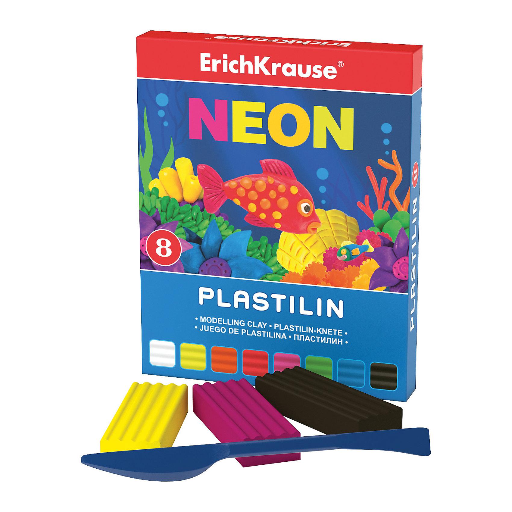 Пластилин Neon (8 цветов, 144г + стек), ArtberryРисование и лепка<br>Пластилин Neon (Неон) (8 цветов, 144г + стек), Artberry (Артберри) невероятно мягкий и пластичный, поэтому из брусочков отлично получаются как плоские (так называемая техника рисования пластилином на поверхности), так и объемные фигурки. Набор пластилина отличается яркой и насыщенной палитрой, при этом цвета легко смешиваются между собой для получения новых оттенков. Позвольте вашему ребенку воплощать свои фантазии в лепке, развивая при этом воображение и мелкую моторику.<br><br>Характеристики:<br>-Сохраняет форму, не застывает на воздухе<br>-Произведен на основе натуральных растительных компонентов<br>-Не липнет к рукам или рабочей поверхности, не оставляет жирных пятен<br>-Лепка пластилином способствует развитию мелкой моторики, целеустремленности, терпения, творческих способностей<br><br>Комплектация: пластилин 8 цветов по 18 г, стек (пластиковый нож)<br><br>Дополнительная информация:<br>-Вес в упаковке: 175 г<br>-Размеры в упаковке: 151х119х10 мм<br>-Материалы: пластилин, пластик<br><br>Набор пластилина из 8 цветов является отличным подарком, который доставит настоящую радость детям и откроет новые возможности для развития творческих способностей Вашего ребенка.<br><br>Пластилин Neon (Неон) (8 цветов, 144г + стек), Artberry (Артберри) можно купить в нашем магазине.<br><br>Ширина мм: 151<br>Глубина мм: 119<br>Высота мм: 10<br>Вес г: 175<br>Возраст от месяцев: 36<br>Возраст до месяцев: 144<br>Пол: Унисекс<br>Возраст: Детский<br>SKU: 4058296