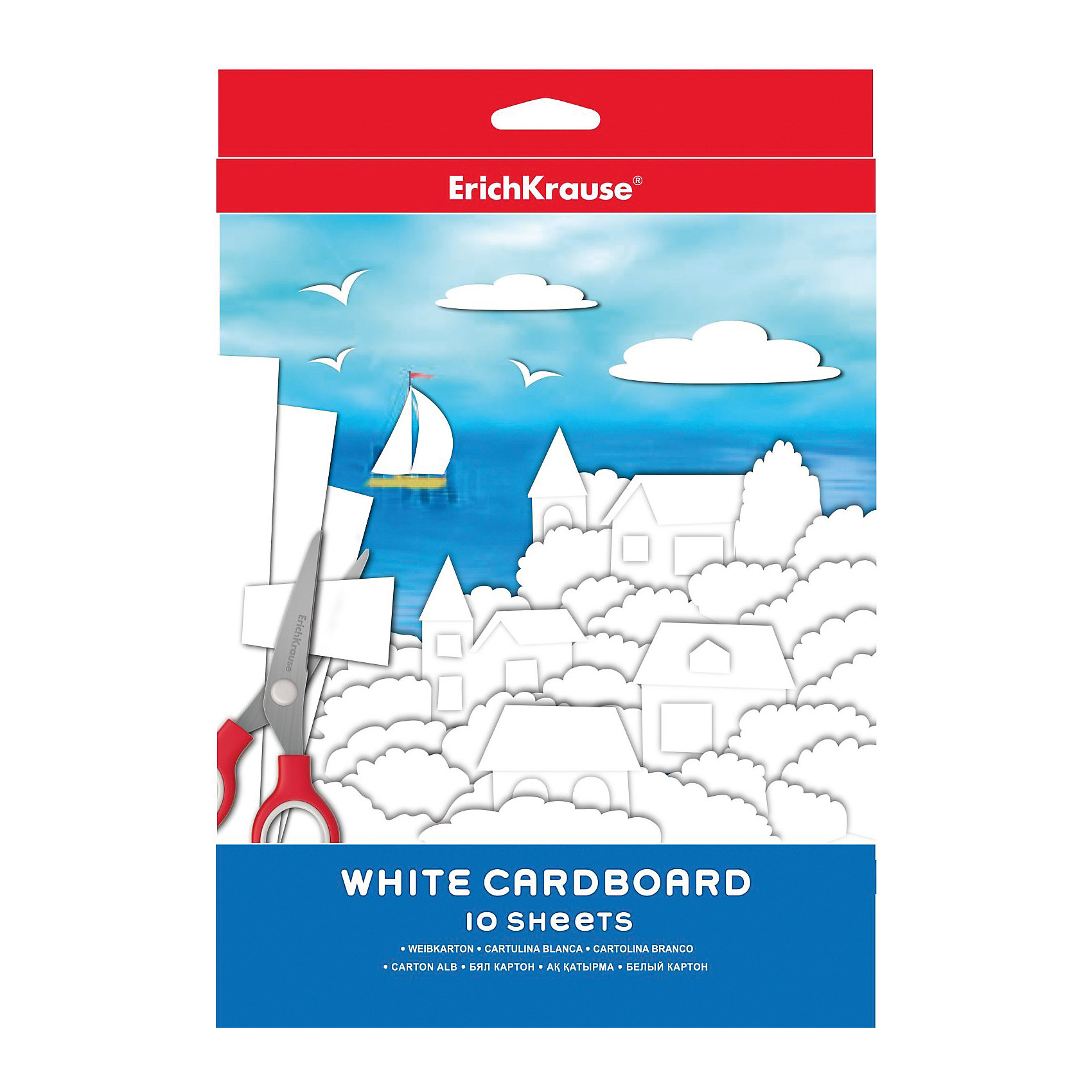 Белый картон (10 листов)Набор классического Белого картона (10 листов) – великолепная основа, которую удобно использовать для создания аппликаций, открыток, пригласительных и т.д.<br><br>Комплектация: 10 листов<br><br>Дополнительная информация:<br>-Вес в упаковке: 138 г<br>-Размеры в упаковке: 297х210х10 мм<br>-Материалы: картон<br><br>Белый картон (10 листов) – отличный подарок для детей, увлекающихся творчеством,  ведь создание поделок из картона – это прекрасный вариант детского досуга!  <br><br>Белый картон (10 листов) можно купить в нашем магазине.<br><br>Ширина мм: 297<br>Глубина мм: 210<br>Высота мм: 10<br>Вес г: 138<br>Возраст от месяцев: 36<br>Возраст до месяцев: 144<br>Пол: Унисекс<br>Возраст: Детский<br>SKU: 4058299