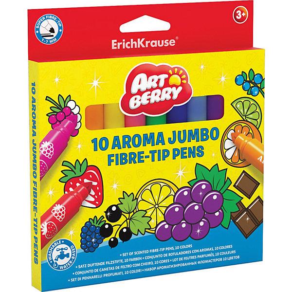 Ароматизированные фломастеры (10 цветов), ArtberryФломастеры<br>Ароматизированные фломастеры (10 цветов), Artberry (Артберри) – очень удобный инструмент для детского творчества. Ими удобно раскрашивать книжки-раскраски или рисовать что-то свое. Благодаря специальным чернилам с добавлением пищевых ароматизаторов, эти маркеры имеют приятный фруктово-ягодный аромат. При рисовании ароматизированными фломастерами у ребенка развивается ассоциативное мышление, видение цвета через запах, развивается художественная фантазия. <br><br>Характеристики:<br>-Яркие насыщенные цвета<br>-Безопасные чернила на водной основе легко смываются холодной водой, отстирываются с тканей и отмываются с бытовых поверхностей<br>-Вентилируемый колпачок, плотная заглушка<br>-Широкий наконечник конического типа позволяет варьировать толщину линии от 1 до 7 мм<br>-Четкие контрастные линии<br><br>Комплектация: 10 разноцветных ароматизированных фломастеров <br><br>Дополнительная информация:<br>-Вес в упаковке: 178 г<br>-Размеры в упаковке: 167х154х10 мм<br>-Материалы: пластик, картон, чернила<br><br>Набор ароматизированных фломастеров станет отличным подарком, который доставит настоящую радость детям и откроет новые возможности для развития творческих способностей Вашего ребенка.<br><br>Ароматизированные фломастеры (10 цветов), Artberry (Артберри) можно купить в нашем магазине.<br>Ширина мм: 167; Глубина мм: 154; Высота мм: 10; Вес г: 178; Возраст от месяцев: 36; Возраст до месяцев: 144; Пол: Унисекс; Возраст: Детский; SKU: 4058301;