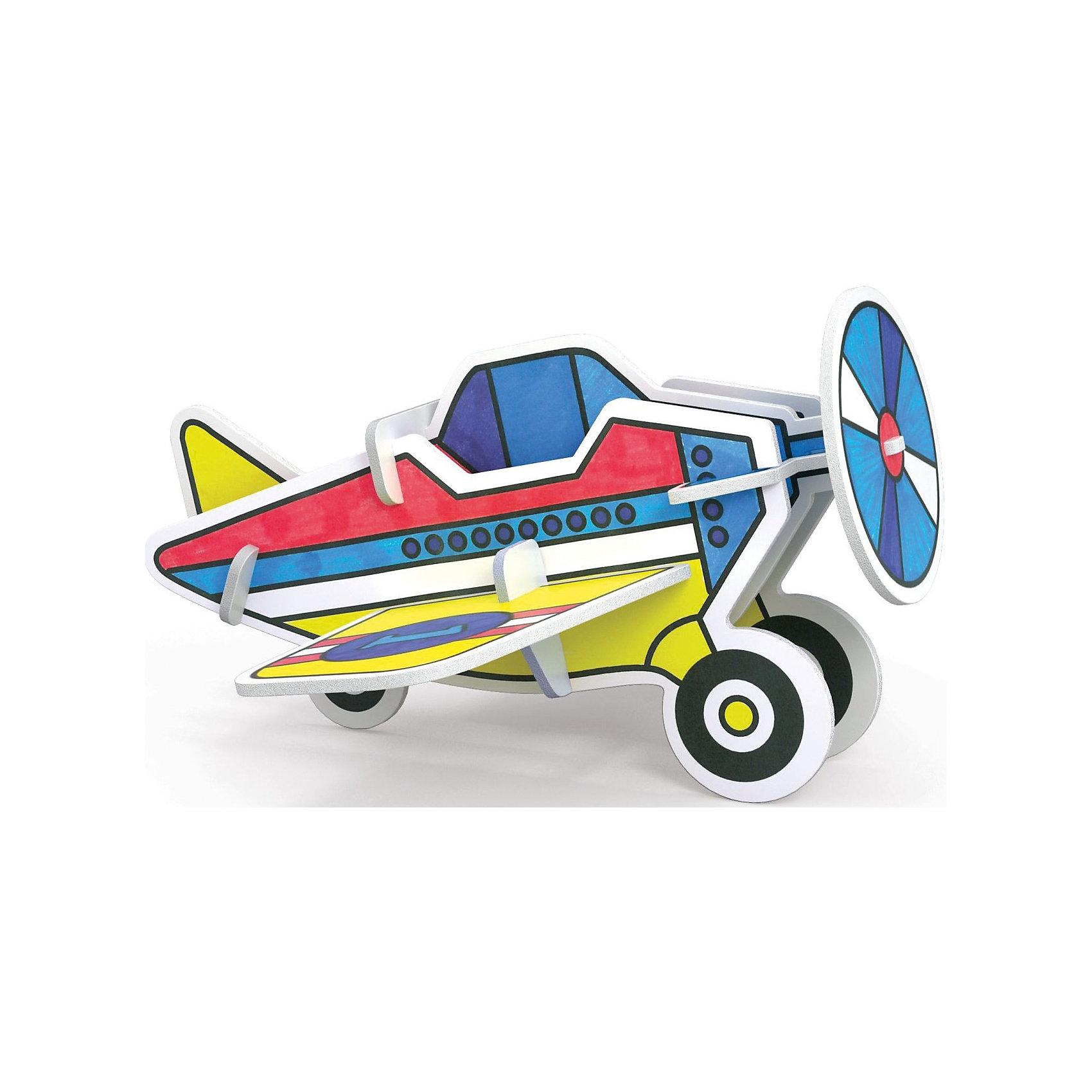 3D Раскраска Самолет, ArtberryНаборы для раскрашивания<br>С помощью набора 3D Раскраска Самолет, Artberry (Артберри) Вашему ребенку предстоит собрать и разукрасить самолет, создав оригинальную самодельную игрушку. Сборка корпуса самолета не потребует клея и ножниц. Творческий процесс развивает усидчивость, моторику пальцев, терпение, трудолюбие и творческие способности.<br><br>Комплектация: 6 разноцветных фломастеров, 2 карты с фигурами для сборки<br><br>Дополнительная информация:<br>-Вес в упаковке: 243 г<br>-Размеры в упаковке: 300х230х25 мм<br>-Материалы: картон, пластмасса, чернила<br><br>Такой творческий набор станет отличным подарком, который доставит настоящую радость детям и откроет новые возможности для развития творческих способностей Вашего ребенка!<br><br>3D Раскраска Самолет, Artberry (Артберри) можно купить в нашем магазине.<br><br>Ширина мм: 300<br>Глубина мм: 230<br>Высота мм: 25<br>Вес г: 243<br>Возраст от месяцев: 36<br>Возраст до месяцев: 144<br>Пол: Унисекс<br>Возраст: Детский<br>SKU: 4058309