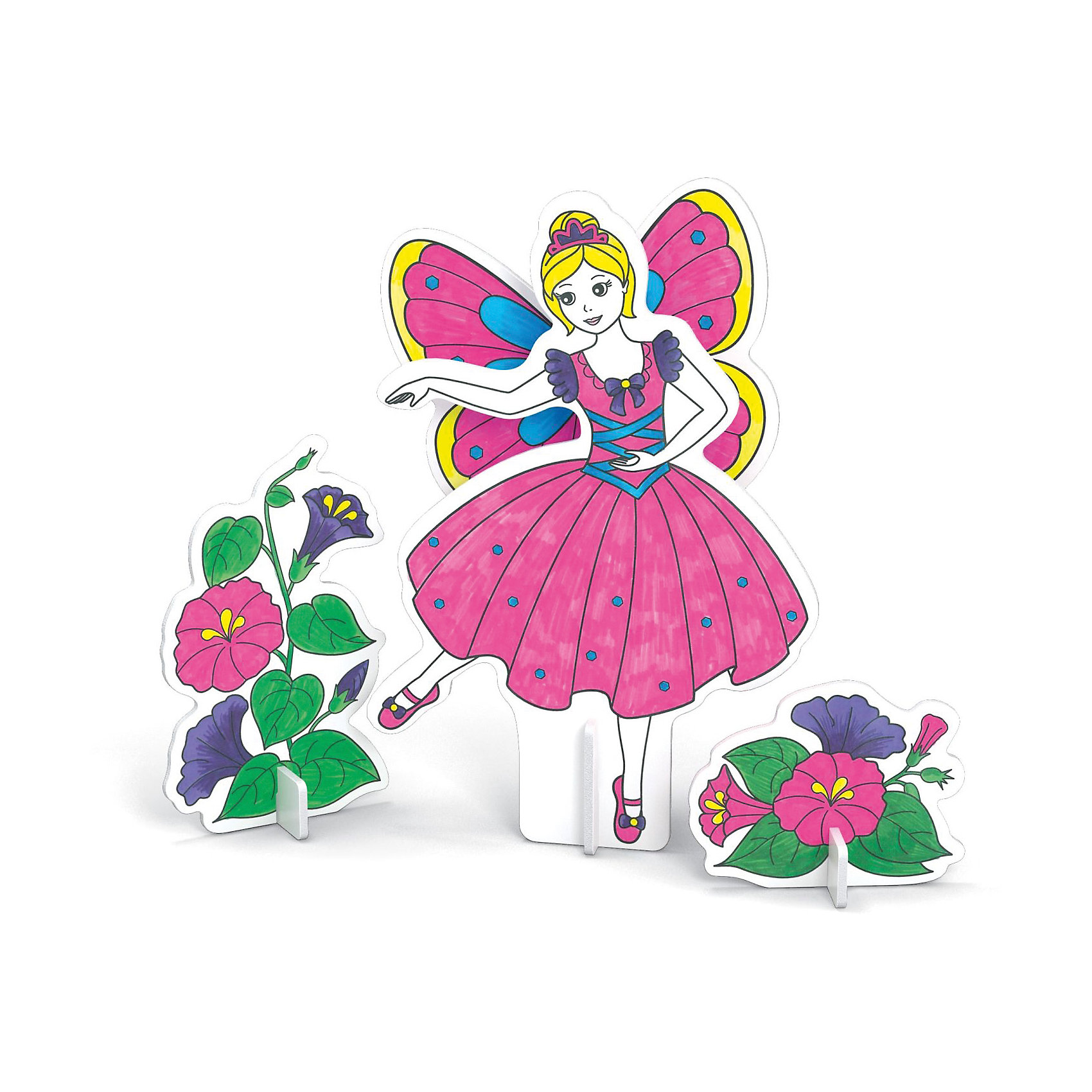 3D Раскраска Фея танца, ArtberryРукоделие<br>С помощью набора 3D Раскраска Фея танца, Artberry (Артберри) Вашей девочке предстоит собрать и разукрасить фигурку танцующей феи с крыльями в пышном платье, создав оригинальный аксессуар. Сборка объемной модели феи не потребует клея и ножниц. Творческий процесс развивает усидчивость, моторику пальцев, терпение, трудолюбие и творческие способности.<br><br>Комплектация: 6 разноцветных фломастеров, 2 карты с фигурами для сборки<br><br>Дополнительная информация:<br>-Вес в упаковке: 243 г<br>-Размеры в упаковке: 300х230х25 мм<br>-Материалы: картон, пластмасса, чернила<br><br>Такой творческий набор станет отличным подарком, который доставит настоящую радость детям и откроет новые возможности для развития творческих способностей Вашего ребенка!<br><br>3D Раскраска Фея танца, Artberry (Артберри) можно купить в нашем магазине.<br><br>Ширина мм: 300<br>Глубина мм: 230<br>Высота мм: 25<br>Вес г: 243<br>Возраст от месяцев: 36<br>Возраст до месяцев: 144<br>Пол: Унисекс<br>Возраст: Детский<br>SKU: 4058311