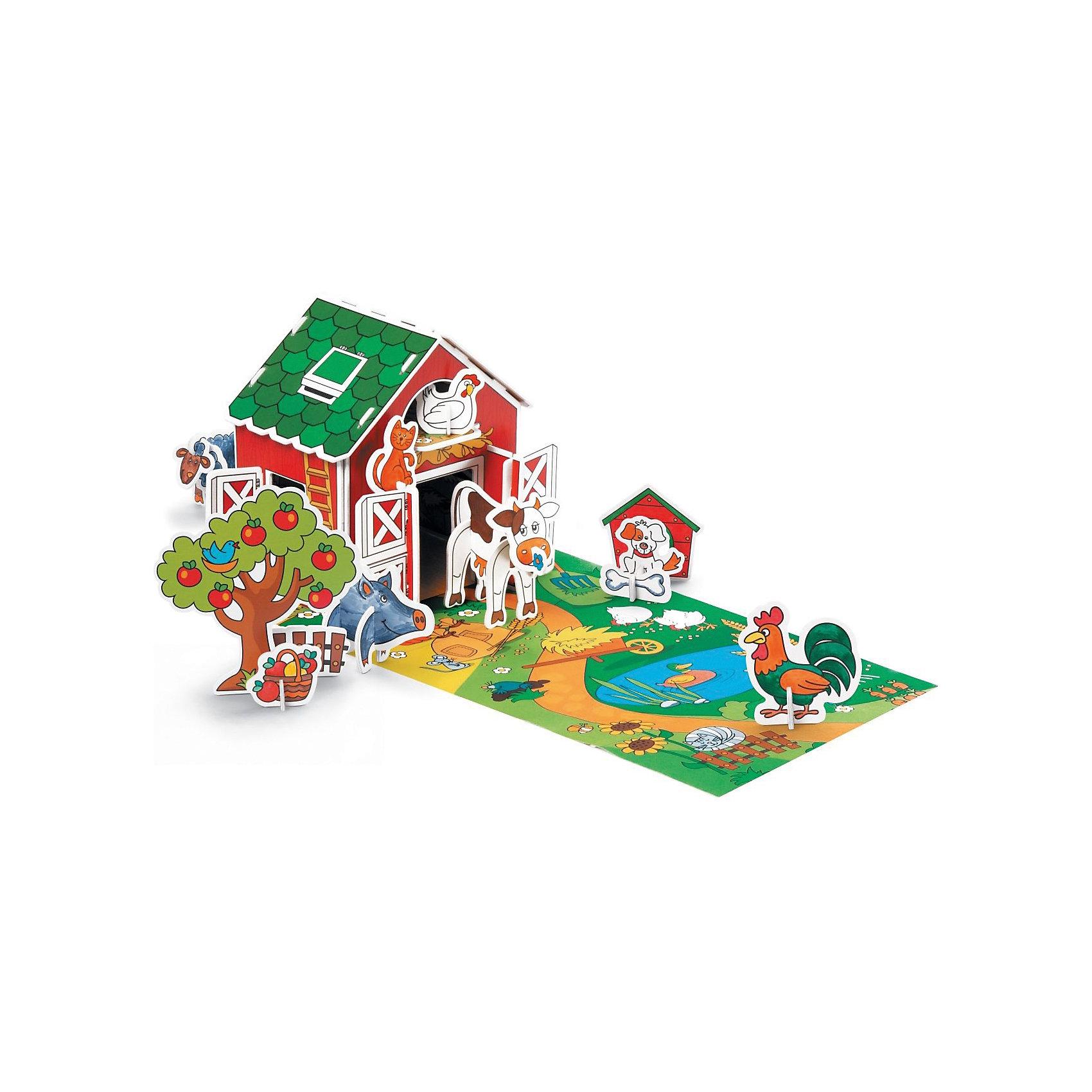 3D Раскраска Животные в деревне, ArtberryРисование<br>Большой яркий набор 3D Раскраска Животные в деревне, Artberry (Артберри) непременно привлечет внимание Вашего ребенка. На красочном фоновом листе ребенку предстоит собрать ферму и ее различных обитателей, которых нужно предварительно раскрасить разноцветными фломастерами из набора. Собранная ферма послужит отличным игровым фоном. Творческий процесс развивает усидчивость, моторику пальцев, терпение, трудолюбие и творческие способности.<br><br>Комплектация: 10 разноцветных фломастеров, 6 карт-шаблонов с фигурками животных и аксессуарами фермы<br><br>Дополнительная информация:<br>-Вес в упаковке: 581 г<br>-Размеры в упаковке: 335х230х44 мм<br>-Материалы: картон, пластик, чернила<br><br>Такой творческий набор станет отличным подарком, который доставит настоящую радость детям и откроет новые возможности для развития творческих способностей Вашего ребенка!<br><br>3D Раскраска Животные в деревне, Artberry (Артберри) можно купить в нашем магазине.<br><br>Ширина мм: 335<br>Глубина мм: 230<br>Высота мм: 44<br>Вес г: 581<br>Возраст от месяцев: 36<br>Возраст до месяцев: 144<br>Пол: Унисекс<br>Возраст: Детский<br>SKU: 4058312
