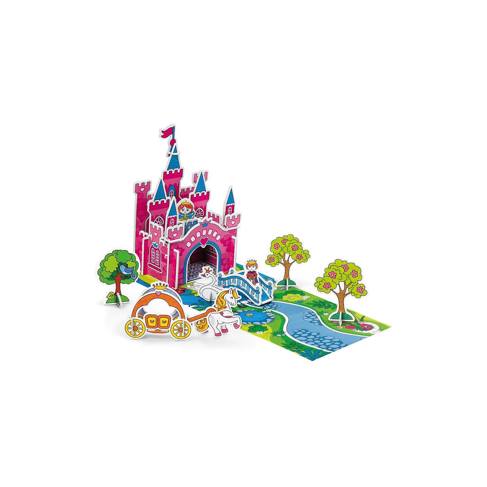 3D Раскраска Загадка королевства Принцессы, ArtberryКартонные модели<br>3D Раскраска Загадка королевства Принцессы, Artberry (Артберри) создана специально для девочек, которые любят творчество. Он представляет собой набор карт-шаблонов с объемными деталями замка, принцессы и аксессуарами, которые необходимо раскрасить фломастерами и собрать по инструкции на игровом поле, а затем придумывать увлекательные истории про принцессу и принца.<br><br>Комплектация: 10 разноцветных фломастеров, 6 карт-шаблонов с фигурками животных и аксессуарами замка <br><br>Дополнительная информация:<br>-Вес в упаковке: 581 г<br>-Размеры в упаковке: 335х230х44 мм<br>-Материалы: картон, пластик, чернила<br><br>Такой творческий набор станет отличным подарком, который доставит настоящую радость детям и откроет новые возможности для развития творческих способностей Вашего ребенка!<br><br>3D Раскраска Загадка королевства Принцессы, Artberry (Артберри) можно купить в нашем магазине.<br><br>Ширина мм: 335<br>Глубина мм: 230<br>Высота мм: 44<br>Вес г: 581<br>Возраст от месяцев: 36<br>Возраст до месяцев: 144<br>Пол: Унисекс<br>Возраст: Детский<br>SKU: 4058313