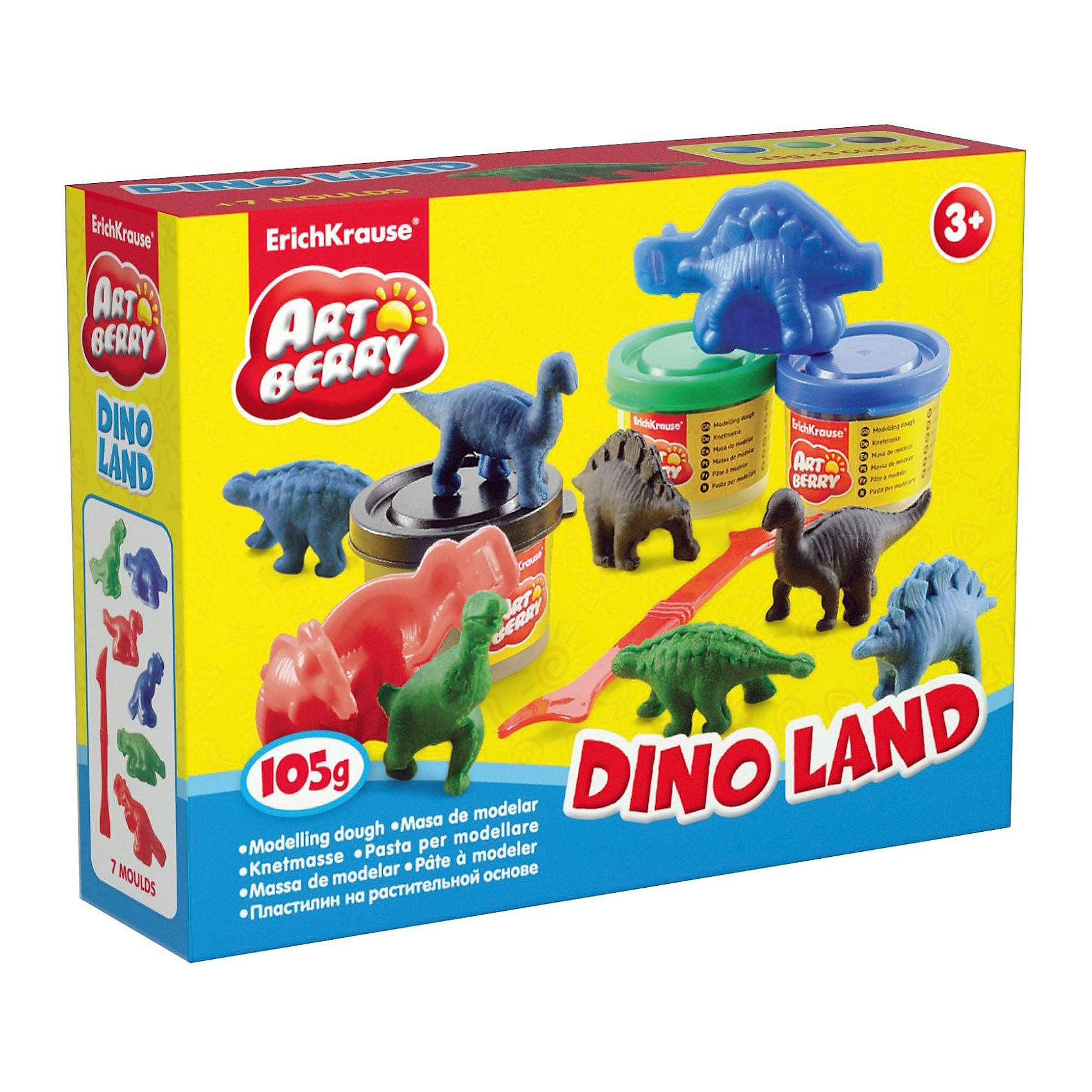 Набор для лепки Остров динозавров (10 предметов)Динозавры и драконы<br>Набор для лепки Остров динозавров (10 предметов) включает в себя 3 баночки пластилина (синий, черный, зеленый), 6 форм для лепки и удобный стек – все это поможет ребенку вылепить собственный парк динозавров. Разнообразие формочек позволит создать различные виды динозавров, как травоядных, так и хищников.<br><br>Характеристики:<br>-Сохраняет форму, не застывает на воздухе<br>-Произведен на основе натуральных растительных компонентов<br>-Не липнет к рукам или рабочей поверхности, не оставляет жирных пятен<br>-Лепка пластилином способствует развитию мелкой моторики, целеустремленности, терпения, творческих способностей<br><br>Комплектация: 3 баночки с разноцветным пластилином, 6 формочек, стек<br><br>Дополнительная информация:<br>-Вес в упаковке: 224 г<br>-Размеры в упаковке: 147х44х38 мм<br>-Длина стека: 14 см<br>-Масса брусочка пластилина: 35 г<br>-Материалы: пластилин, пластик<br><br>Набор для лепки динозавров является отличным подарком для детей, которые увлечены динозаврами, и откроет новые возможности для развития творческих способностей Вашего ребенка.<br><br>Набор для лепки Остров динозавров (10 предметов) можно купить в нашем магазине.<br><br>Ширина мм: 147<br>Глубина мм: 44<br>Высота мм: 38<br>Вес г: 224<br>Возраст от месяцев: 36<br>Возраст до месяцев: 144<br>Пол: Унисекс<br>Возраст: Детский<br>SKU: 4058316