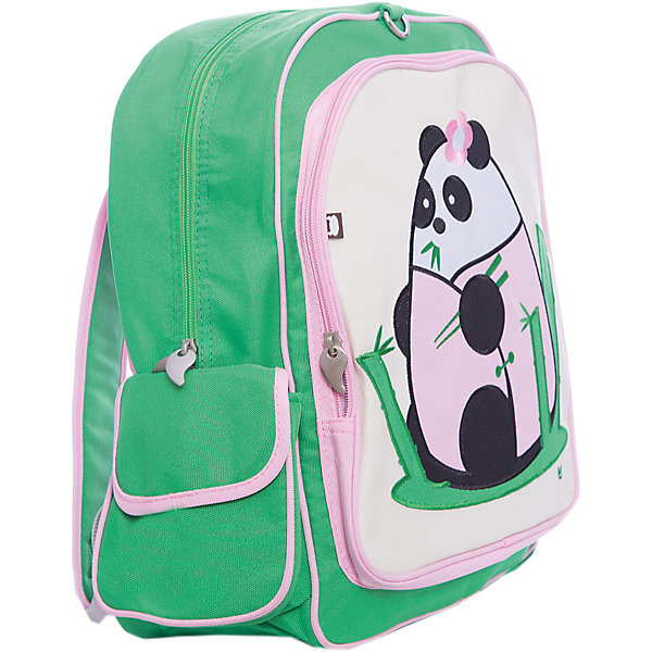 Дошкольный рюкзак Панда, BeatrixДетские рюкзаки<br>Beatrix – всемирно известная компания, которая выпускает свою продукцию, заботясь о детях и об окружающей среде. Компания выпускает широкий ассортимент рюкзаков, ланч-боксов, чехлов для планшетов и чемоданов, которые так нравятся взрослым и детям. Огромное внимание специалисты компании Beatrix уделяют безопасности своей продукции: в ней не содержится свинца, фталатов и ПВХ. Невероятно красивая аппликация на рюкзаке Панда от Beatrix делает его не похожим на другие и очень привлекательным. Большой рюкзак  Панда от Beatrix создан специально для школьников, с учетом их потребностей. Рюкзак вместительный и невероятно легкий, благодаря тому, что сделан из прочного влагоотталкивающего материала, для производства  которого используется легкая и экологичная парусина,  пропитанная  специальным полимерным составом. В этот рюкзак без труда влезут учебники, тетрадки и конечно же ноутбук. Основное отделение рюкзака очень вместительное и застегивается на молнию, так же как и внутренний карман для мелочей. Боковые карманы легкодоступны и застегиваются на липучку. Симпатичный внешний карман с аппликацией в виде забавной панды тоже закрывается на молнию. Сзади на именном ярлычке, Вы сможете написать имя и фамилию ребенка. Отрегулируйте мягкие и широкие лямки по длине, в зависимости от роста ребенка. Носить такой рюкзак одно удовольствие, ведь мягкая спинка прошита, чтобы обеспечить ребенку лучшее распределение нагрузки на спину во время ношения рюкзака.<br><br>Дополнительная информация:<br><br>- Яркий рюкзак с уникальным дизайном;<br>- Выполнен из безопасных материалов (стандарт CPSIA);<br>- Эко-рюкзак: не содержит свинца, фталатов, ПВХ;<br>- Закрывается на молнию;<br>- Множество вместительных отделений;<br>- Плотная прошитая спинка;<br>- Широкие лямки регулируются по длине;<br>- Материал: нейлон - 85%, парусина - 15 %;<br>- Размер: 35,5 х 38 х 14 см;<br>- Вес: 700 г<br><br>Рюкзак Панда 35,5*38*14 см, Beatrix можно купить в нашем инт