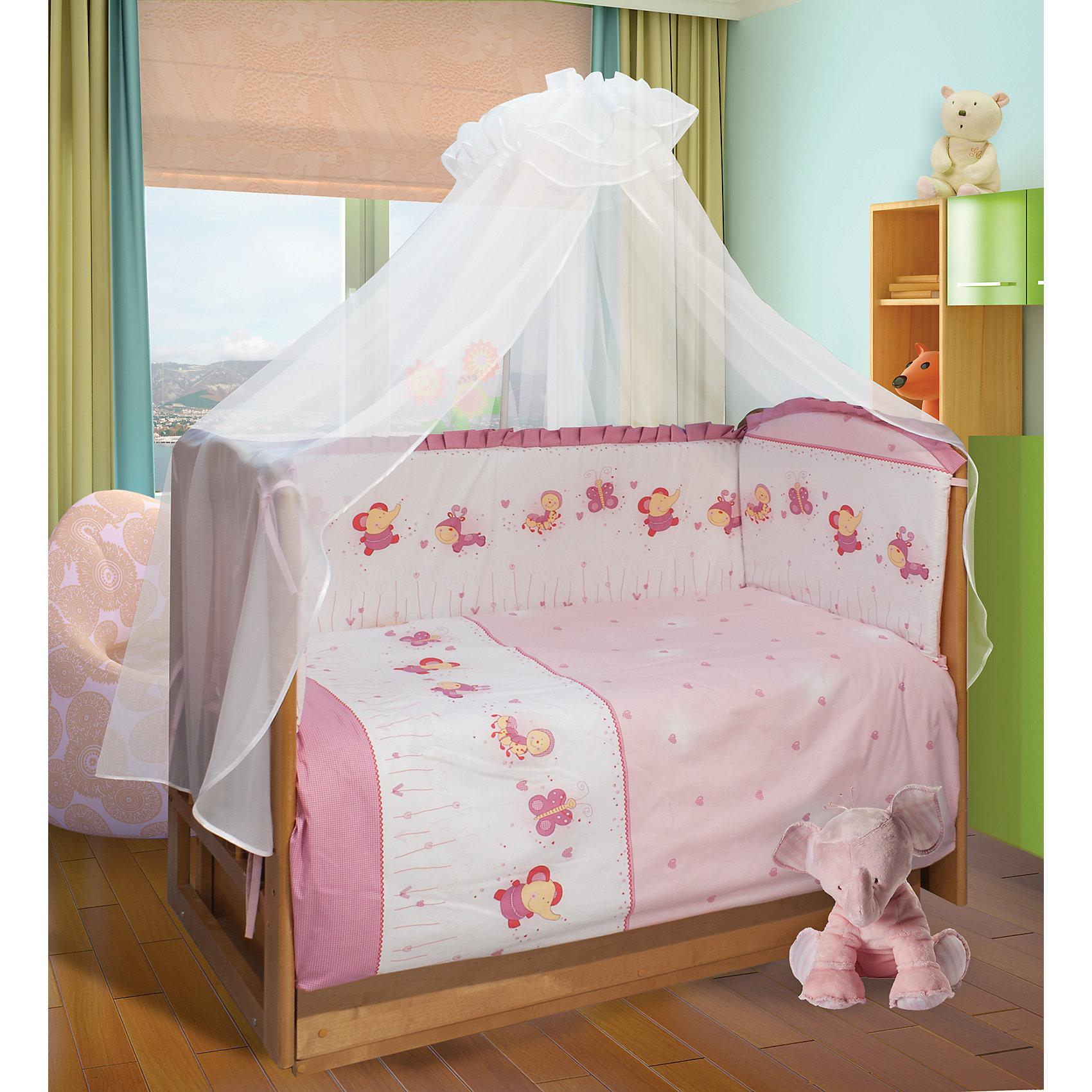 Постельное бельё Ласковое лето, 3 пр., Soni Kids, розовый