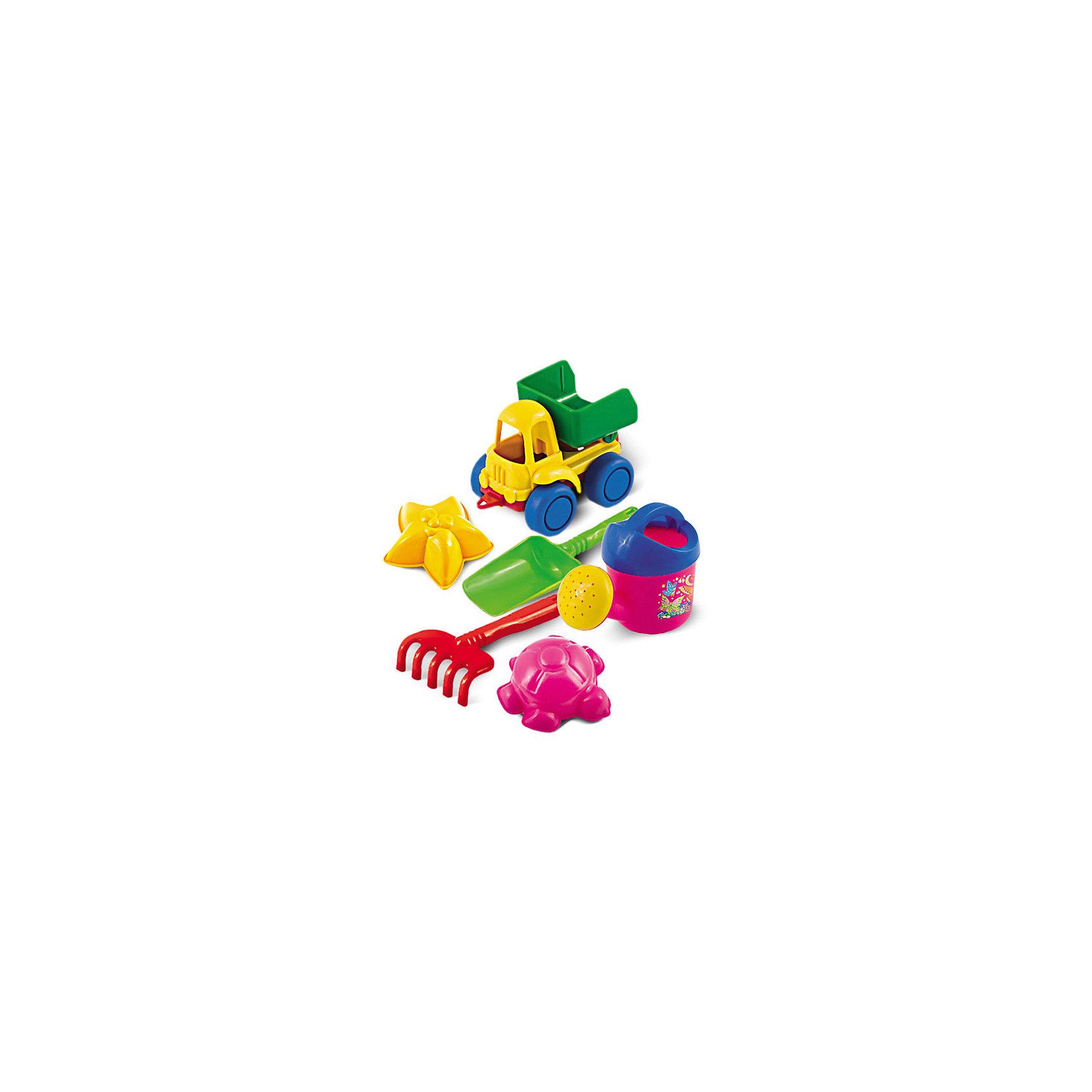 Набор для песка №48, НордпластИграем в песочнице<br>Набор для песка №48, Нордпласт - это радость и забава для летних развлечений вашего малыша.<br>Набор для песка привлечет внимание каждого ребенка, ведь с яркими игрушками проводить время в песочнице или на пляже станет гораздо интереснее. Набор включает в себя самосвал Нордик, кузов самосвала поднимается и опускается; две морских формочки: морская звезда и черепашка; совок и грабельки, также маленькую лейку. Набор для песка от компании Нордпласт сделан из качественной прочной пластмассы, поэтому не выцветает на солнце и не трескается.<br><br>Дополнительная информация:<br><br>- В наборе: самосвал Нордик, лейка кроха, грабли, совочек, формочки 2 шт.<br>- Размер лейки: 11.5 х 6.5х 9 см.<br>- Размер грабель: 13 х 6.5 см.<br>- Размер совка: 16.5 х 5.5 см.<br>- Размер формочек: 8 х 8 см.<br>- Размер самосвала: 11.5 х 6.5 х 7.5 см.<br>- Материал: пластмасса<br>- Размер упаковки: 11 х 17 х 10см.<br>- Вес: 140 гр.<br><br>Набор для песка №48, Нордпласт можно купить в нашем интернет-магазине.<br><br>Ширина мм: 110<br>Глубина мм: 170<br>Высота мм: 100<br>Вес г: 140<br>Возраст от месяцев: 24<br>Возраст до месяцев: 60<br>Пол: Унисекс<br>Возраст: Детский<br>SKU: 4060302
