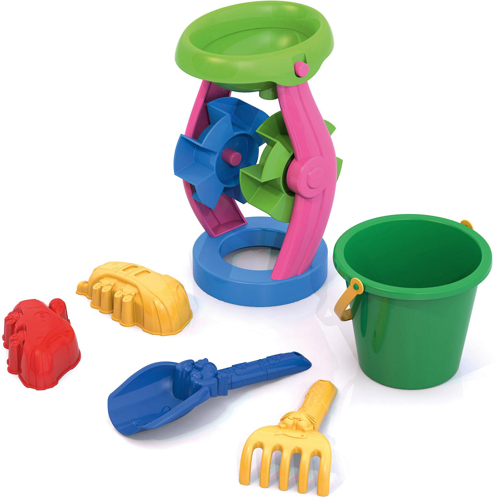 Набор для песочницы №5, НордпластНабор для песочницы №5, Нордпласт - это радость и забава для летних развлечений вашего малыша.<br>Набор для песка привлечет внимание каждого ребенка, ведь с яркими игрушками проводить время в песочнице или на пляже станет гораздо интереснее. В этот набор входят мельница, ведро, лопатка, грабли, 2 формочки. Лопаткой малышу будет легко собирать песок, а если насыпать песок в мельницу ее лопасти начнут крутиться. Набор для песка от компании Нордпласт сделан из качественной прочной пластмассы, поэтому не выцветает на солнце и не трескается.<br><br>Дополнительная информация:<br><br>- В наборе: мельница, ведро, лопатка, грабли, 2 формочки<br>- Материал: пластмасса<br>- Размер упаковки: 30 х 15 х 13 см.<br>- Вес: 200 гр.<br><br>Набор для песочницы №5, Нордпласт можно купить в нашем интернет-магазине.<br><br>Ширина мм: 300<br>Глубина мм: 150<br>Высота мм: 130<br>Вес г: 200<br>Возраст от месяцев: 24<br>Возраст до месяцев: 60<br>Пол: Унисекс<br>Возраст: Детский<br>SKU: 4060308