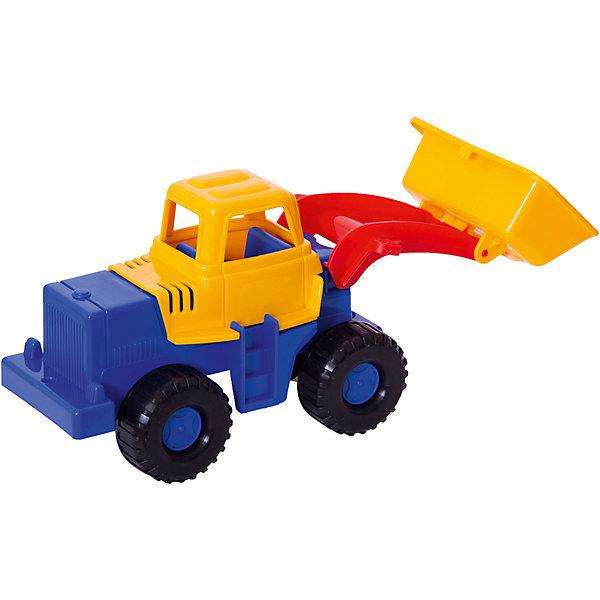 Трактор Медвежонок, НордпластИграем в песочнице<br>Трактор Медвежонок, Нордпласт – это пластмассовая машина, которой интересно будет играть вашему мальчику.<br>Надежный, крепкий и красочный трактор Медвежонок от компании Нордпласт  отлично подойдет ребенку для различных игр дома, в детском саду или на прогулке. У него подвижный большой ковш, с помощью которого можно копать траншеи, строить дороги и придумать много интересных и увлекательных игр. А в строительстве песочных замков, домов или плотин он станет незаменим! Кабина с сидением открытая, поэтому в ней можно разместить маленькую фигурку водителя. Есть лесенка, чтобы игрушечный водитель мог забираться в кабину. Большие колеса с текстурированными шинами делают игрушку устойчивой. Игрушка изготовлена из высококачественной пищевой пластмассы, без трещин и заусениц, поэтому во время эксплуатации выдержит многие детские шалости. Она покрыта нетоксичной краской, не облупливающейся и не выгорающей на солнце. Товар соответствует требованиям стандарта для детских игрушек и имеет сертификат качества.<br><br>Дополнительная информация:<br><br>- Материал: высококачественная пластмасса<br>- Размер: 14х13х28 см.<br>- Вес: 200 гр.<br><br>Трактор Медвежонок, Нордпласт можно купить в нашем интернет-магазине.<br><br>Ширина мм: 280<br>Глубина мм: 130<br>Высота мм: 140<br>Вес г: 200<br>Возраст от месяцев: 24<br>Возраст до месяцев: 60<br>Пол: Мужской<br>Возраст: Детский<br>SKU: 4060315